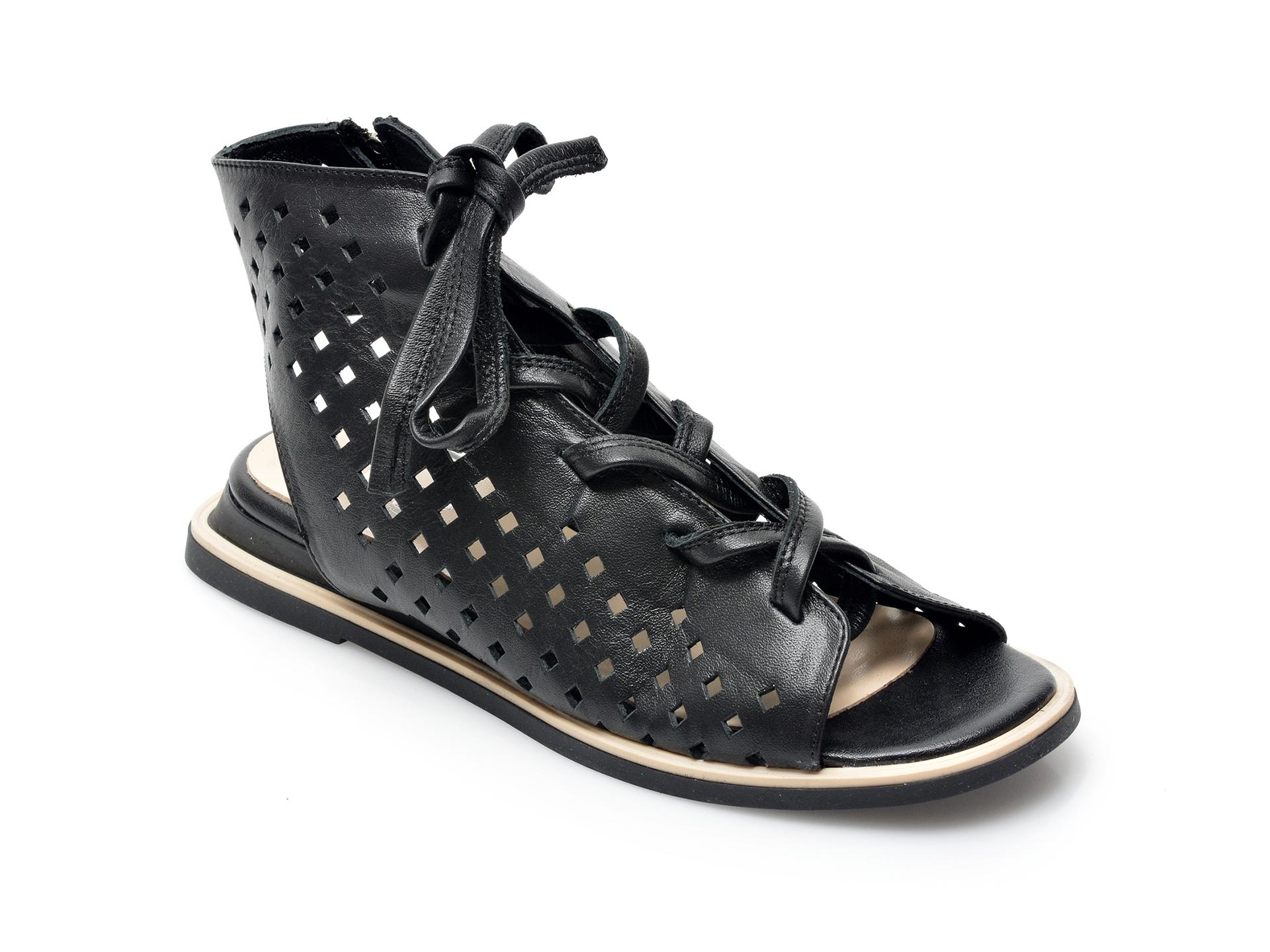 Sandale IMAGE negre, 762032, din piele naturala imagine otter.ro 2021
