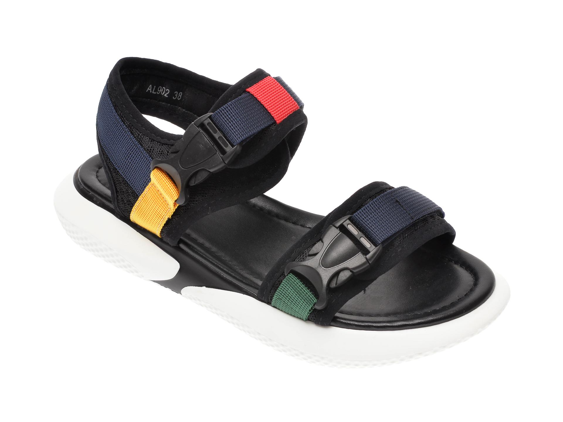 Sandale Image Negre, Al902, Din Material Textil