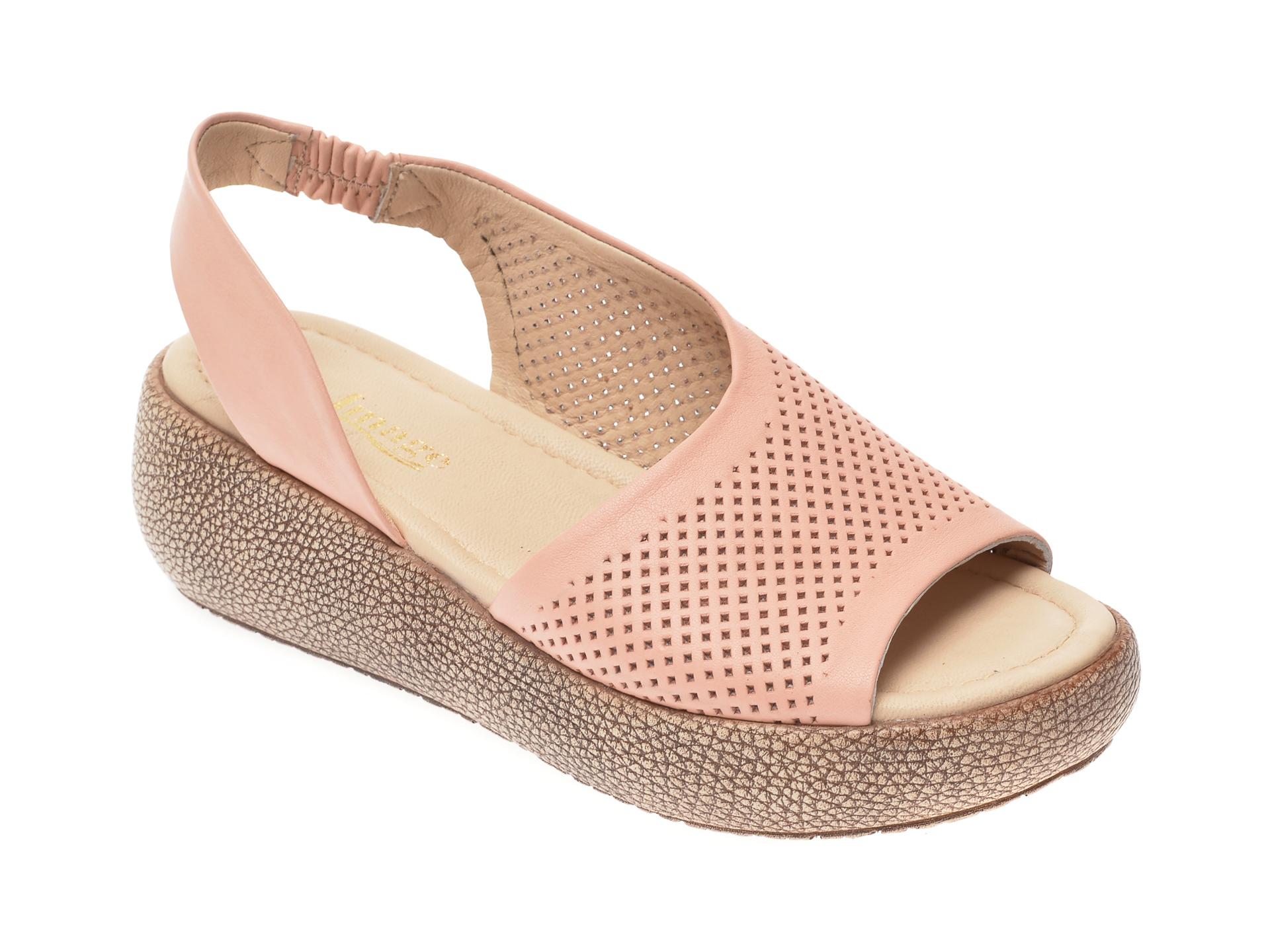Sandale IMAGE nude, 6033, din piele naturala imagine