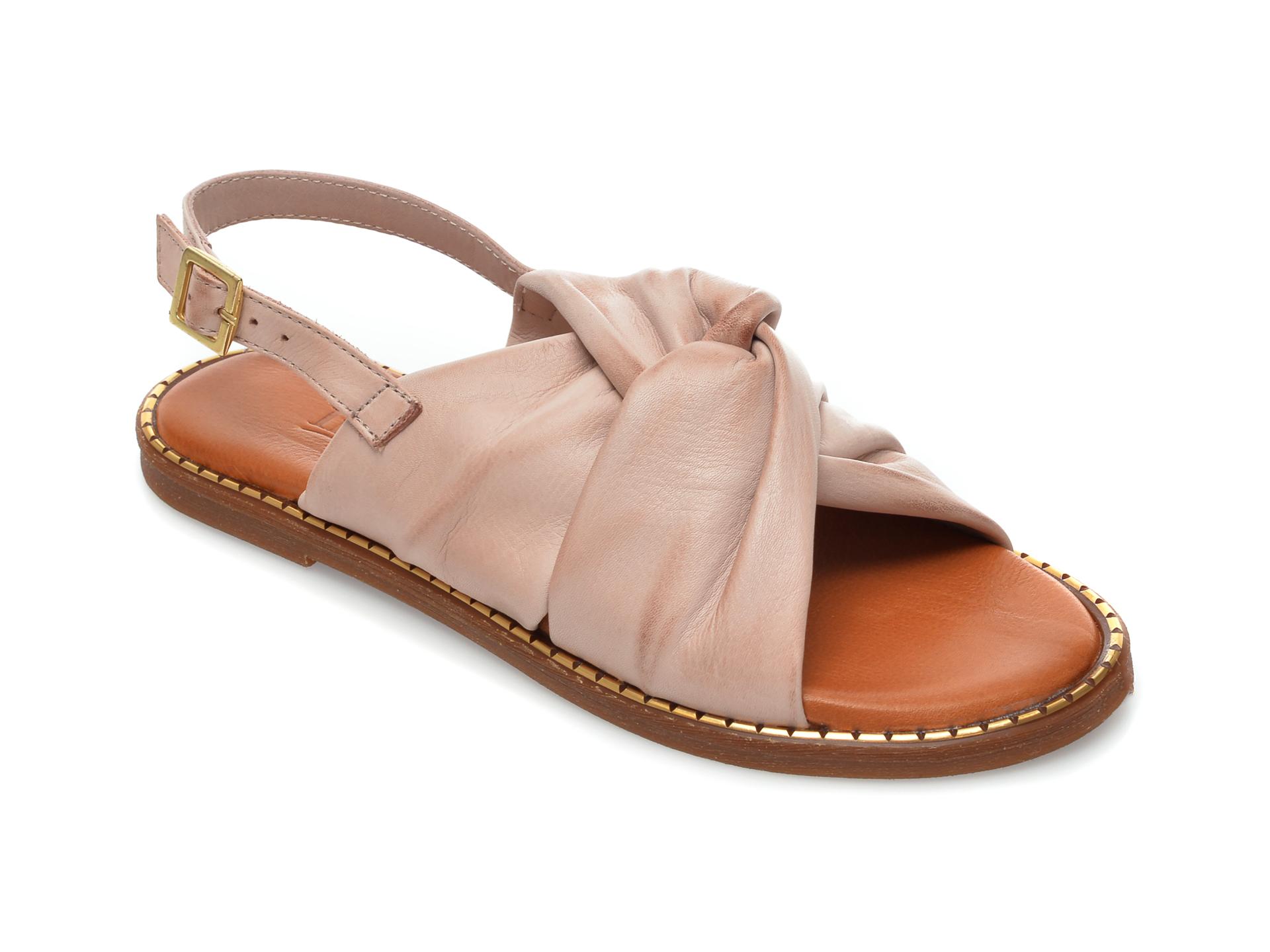 Sandale IMAGE nude, 719, din piele naturala imagine otter.ro 2021