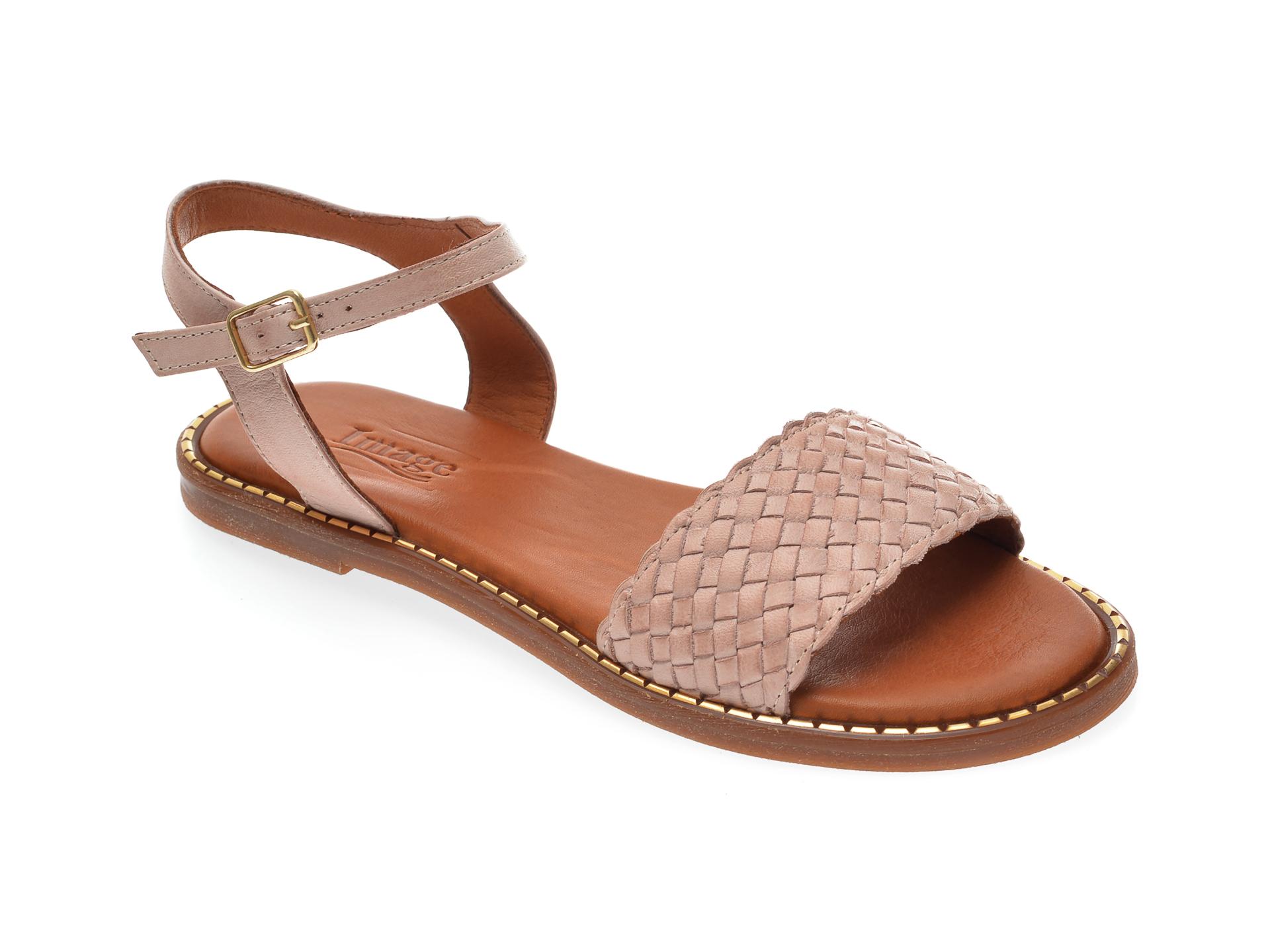 Sandale IMAGE nude, 736, din piele naturala imagine otter.ro 2021