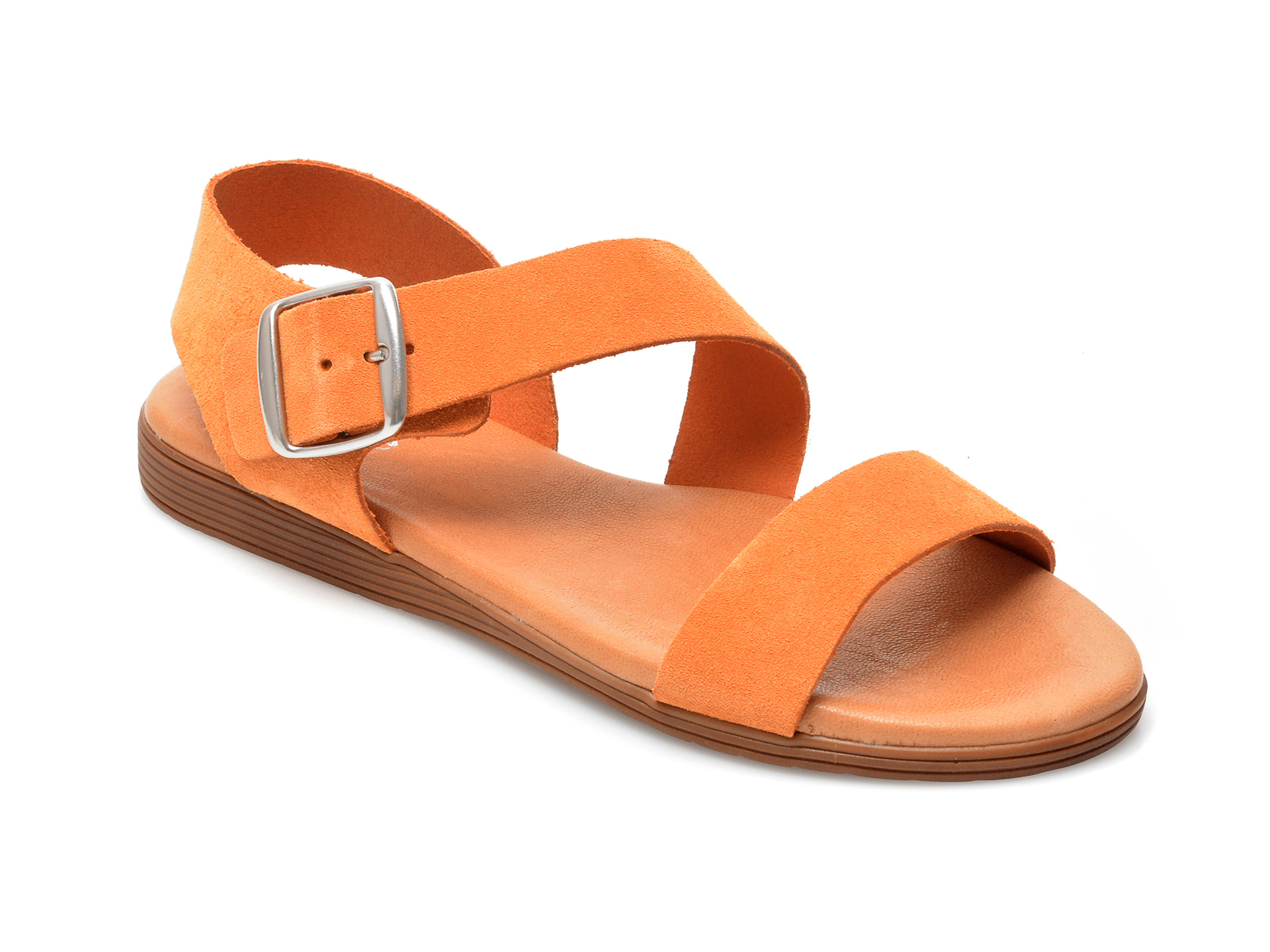 Sandale IMAGE portocalii, 1428S, din piele intoarsa imagine otter.ro