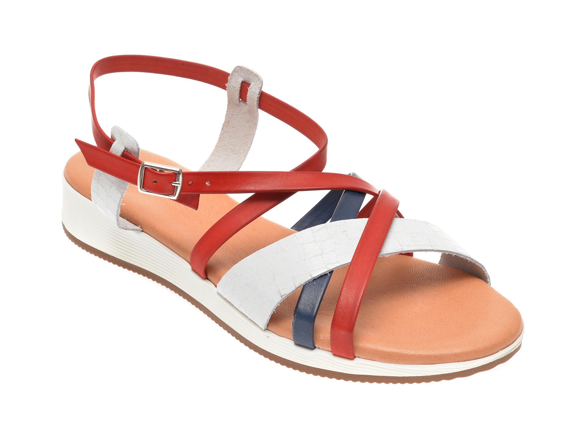 Sandale IMAGE rosii, 1351C, din piele naturala imagine