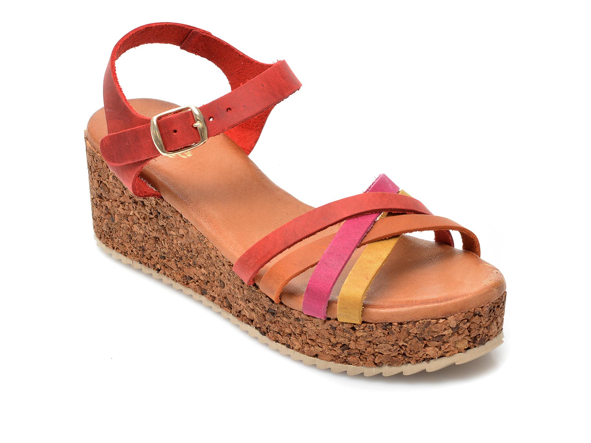 Sandale IMAGE rosii, 54210AP, din piele naturala imagine otter.ro 2021