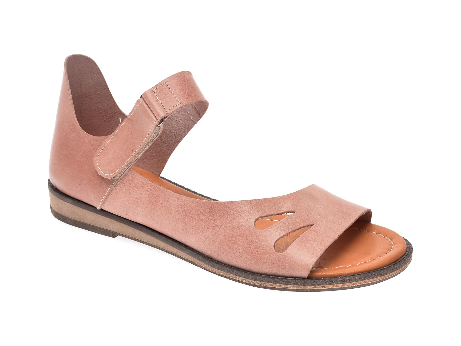 Sandale IMAGE roz, 118, din piele naturala imagine