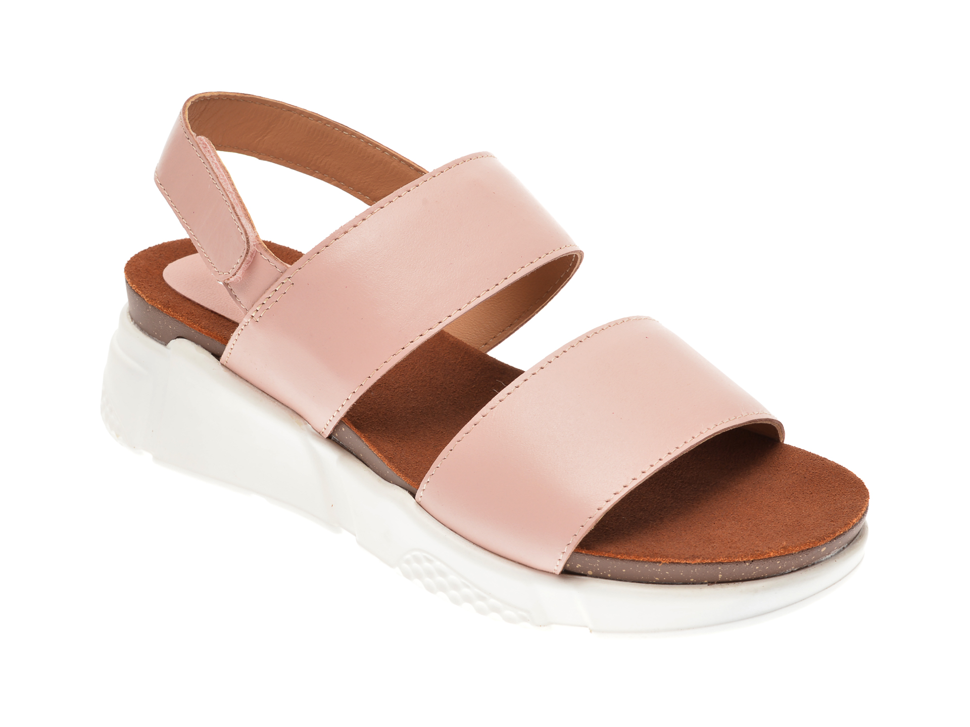 Sandale Image Roz, Sh57, Din Piele Naturala