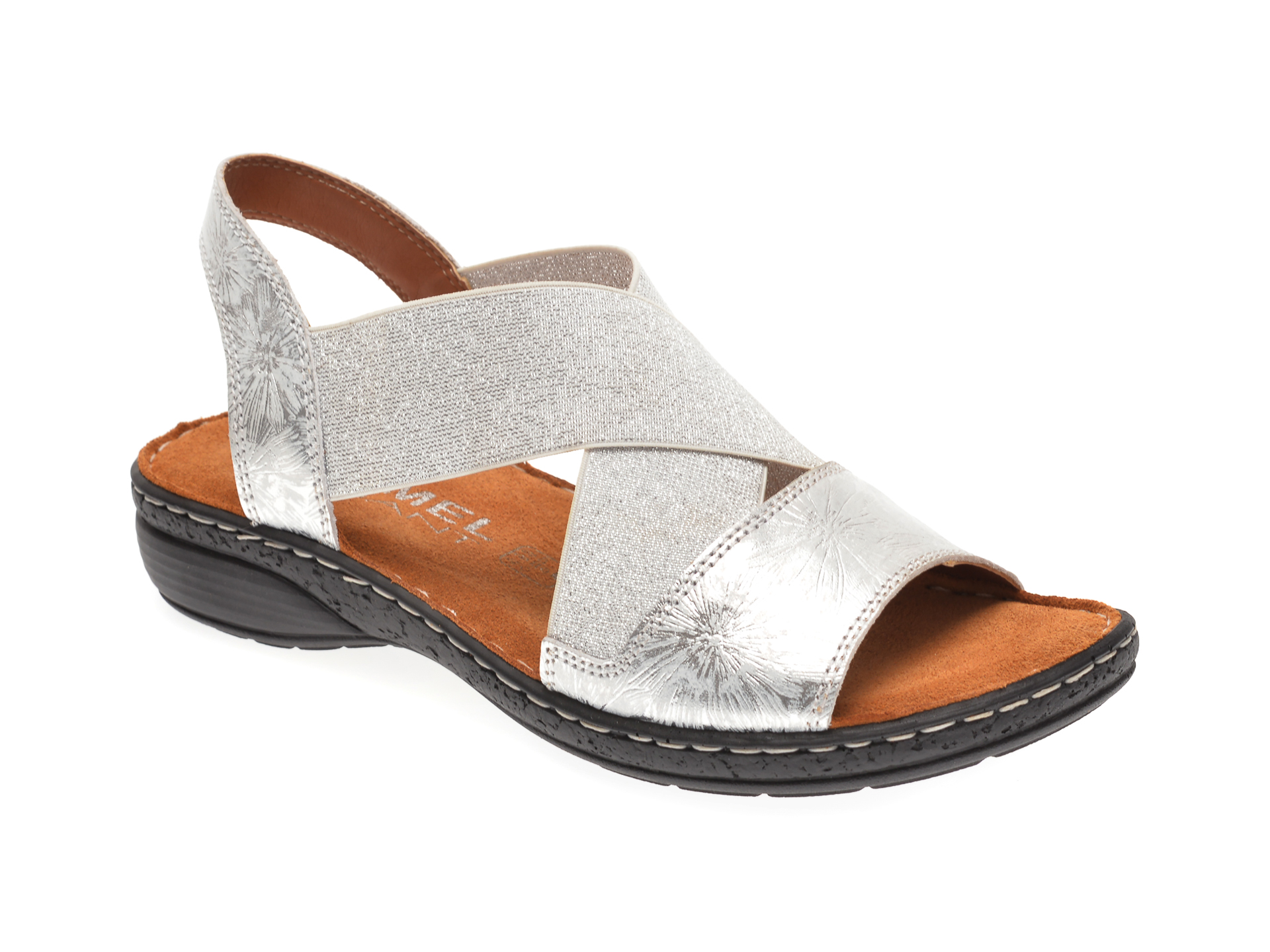 Sandale LUMEL argintii, 263, din piele naturala