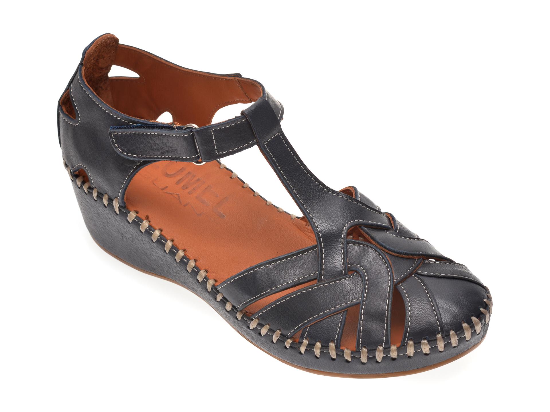 Sandale LUMEL bleumarin, 101025, din piele naturala