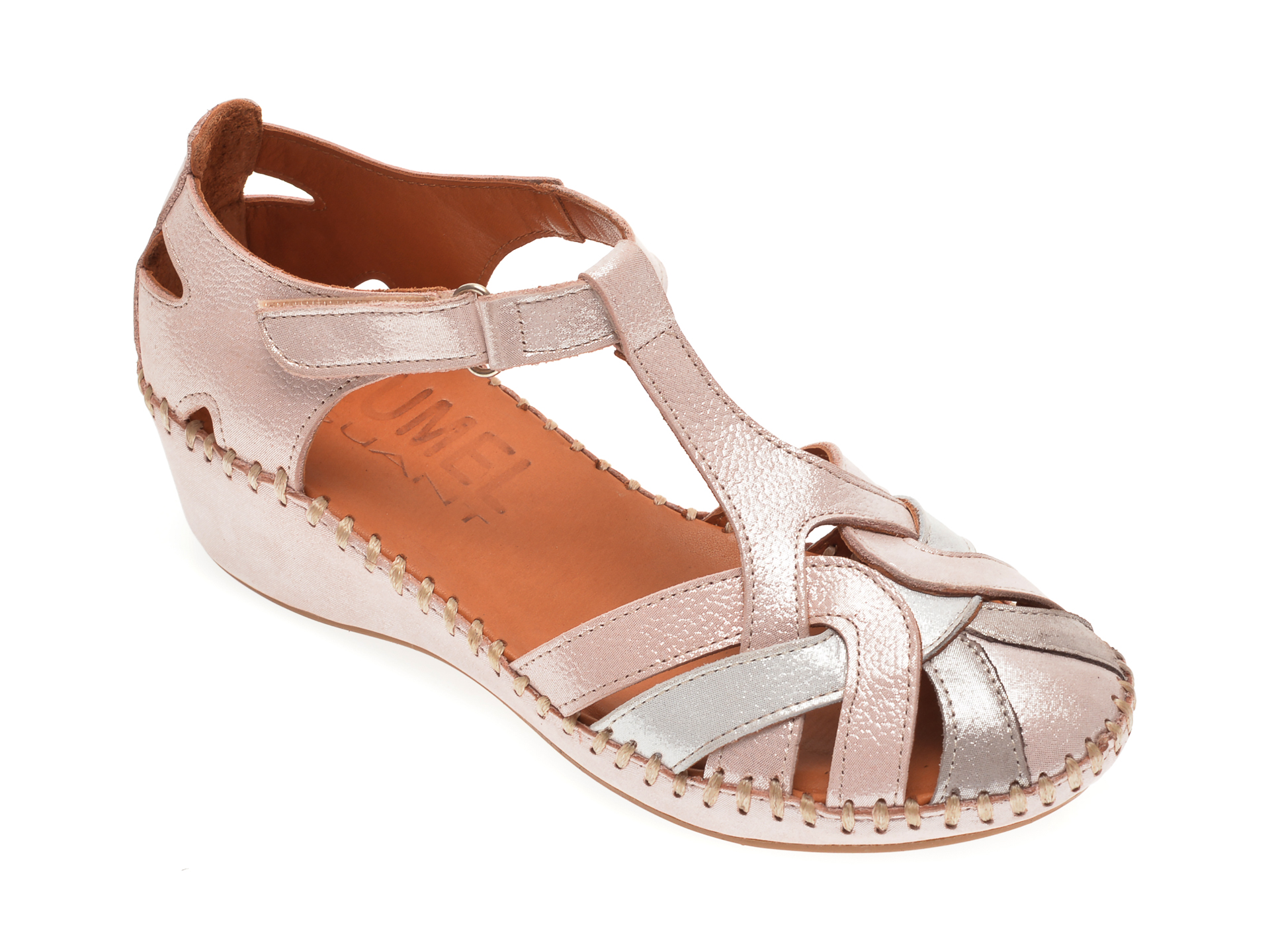 Sandale LUMEL roz, 101025, din piele naturala