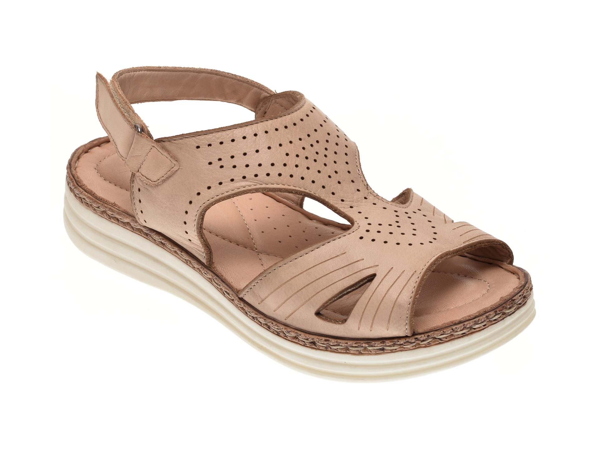 Sandale MARCHA bej, 535, din piele naturala