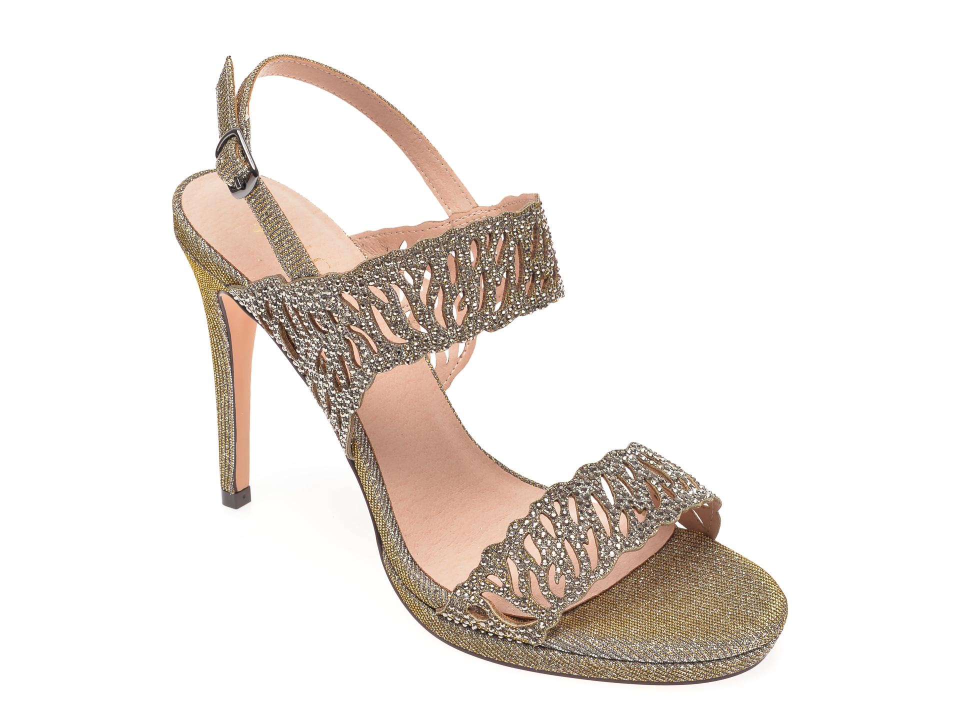 Sandale MENBUR aurii, 20862, din piele ecologica imagine otter.ro 2021