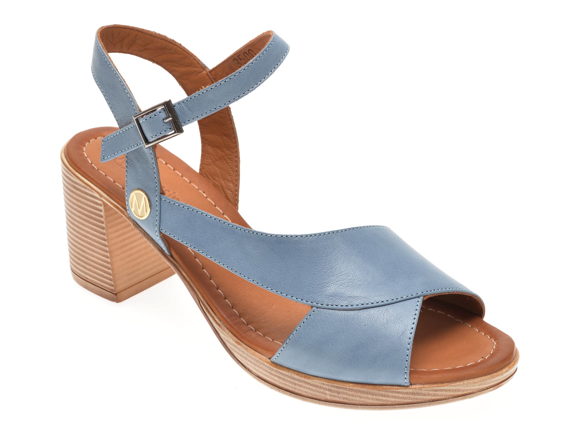 Sandale MESSIMODA albastre, 20Y3500, din piele naturala