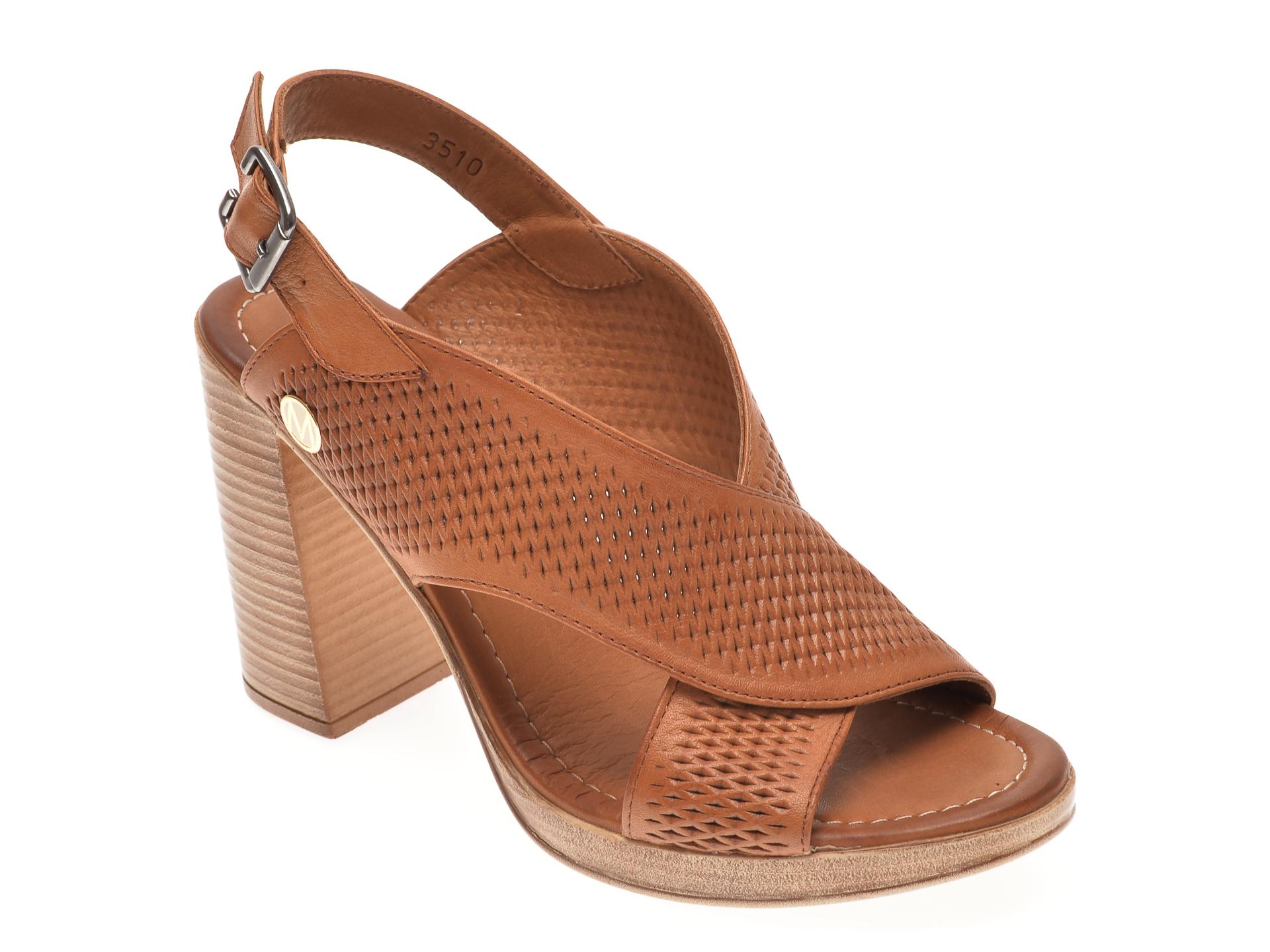 Sandale MESSIMODA maro, 20Y3510, din piele naturala
