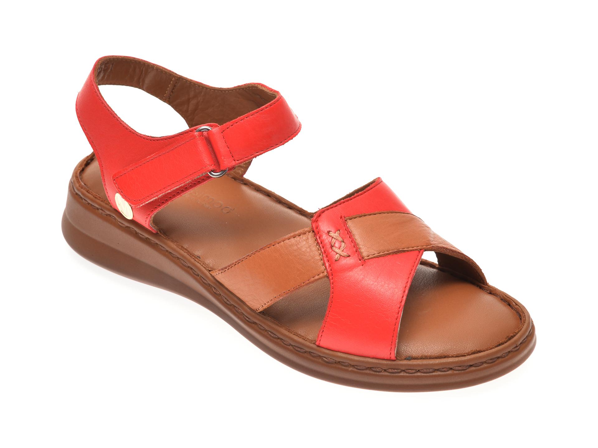 Sandale MESSIMODA rosii, 20Y3561, din piele naturala