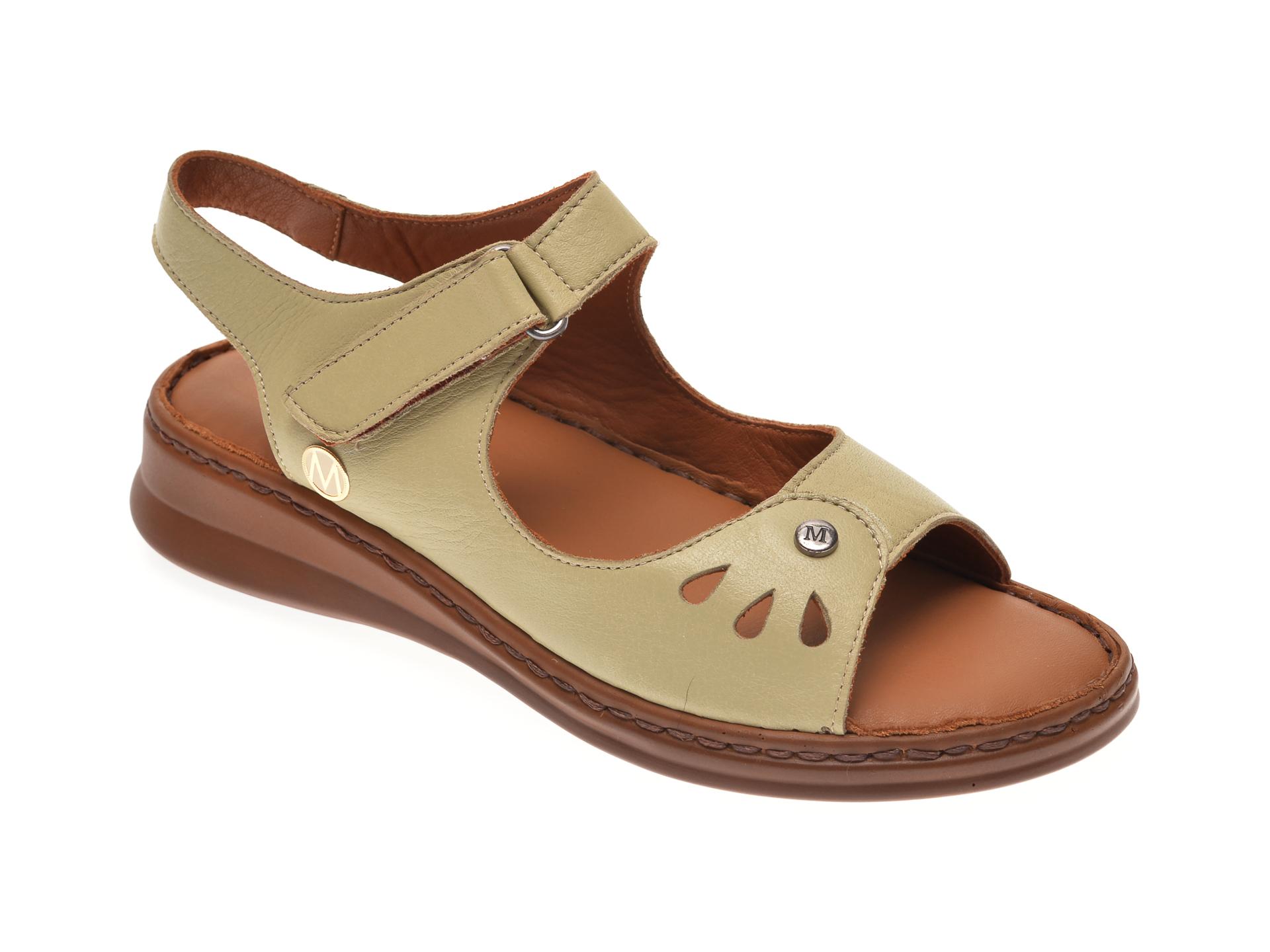 Sandale MESSIMODA verzi, 20Y3564, din piele naturala