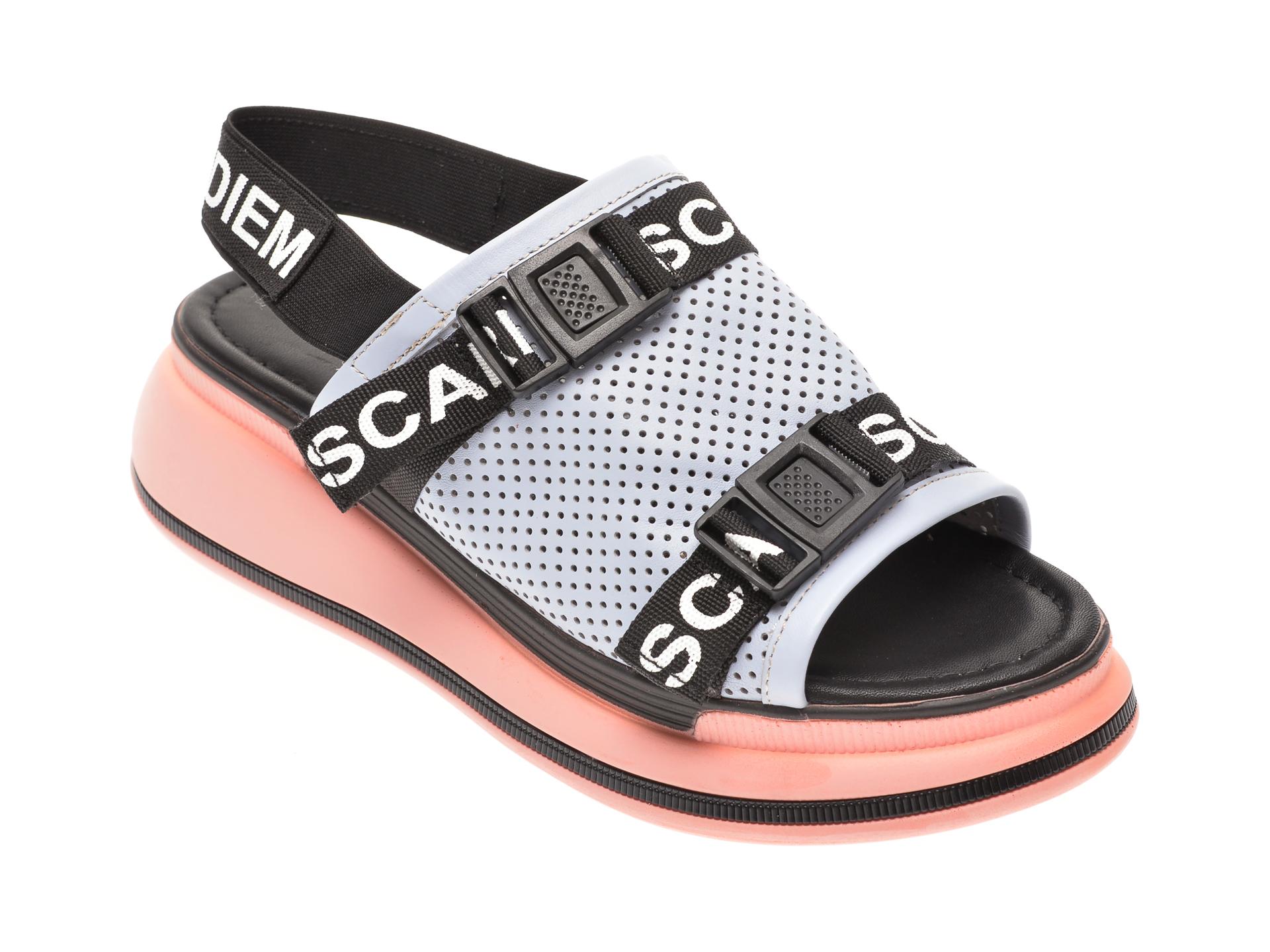 Sandale MISS LIZA albastre, 1182627, din piele naturala