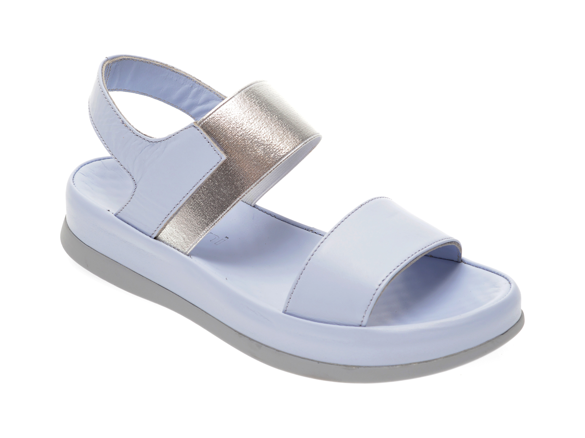 Sandale MISS LIZA albastre, 118PD02, din piele naturala