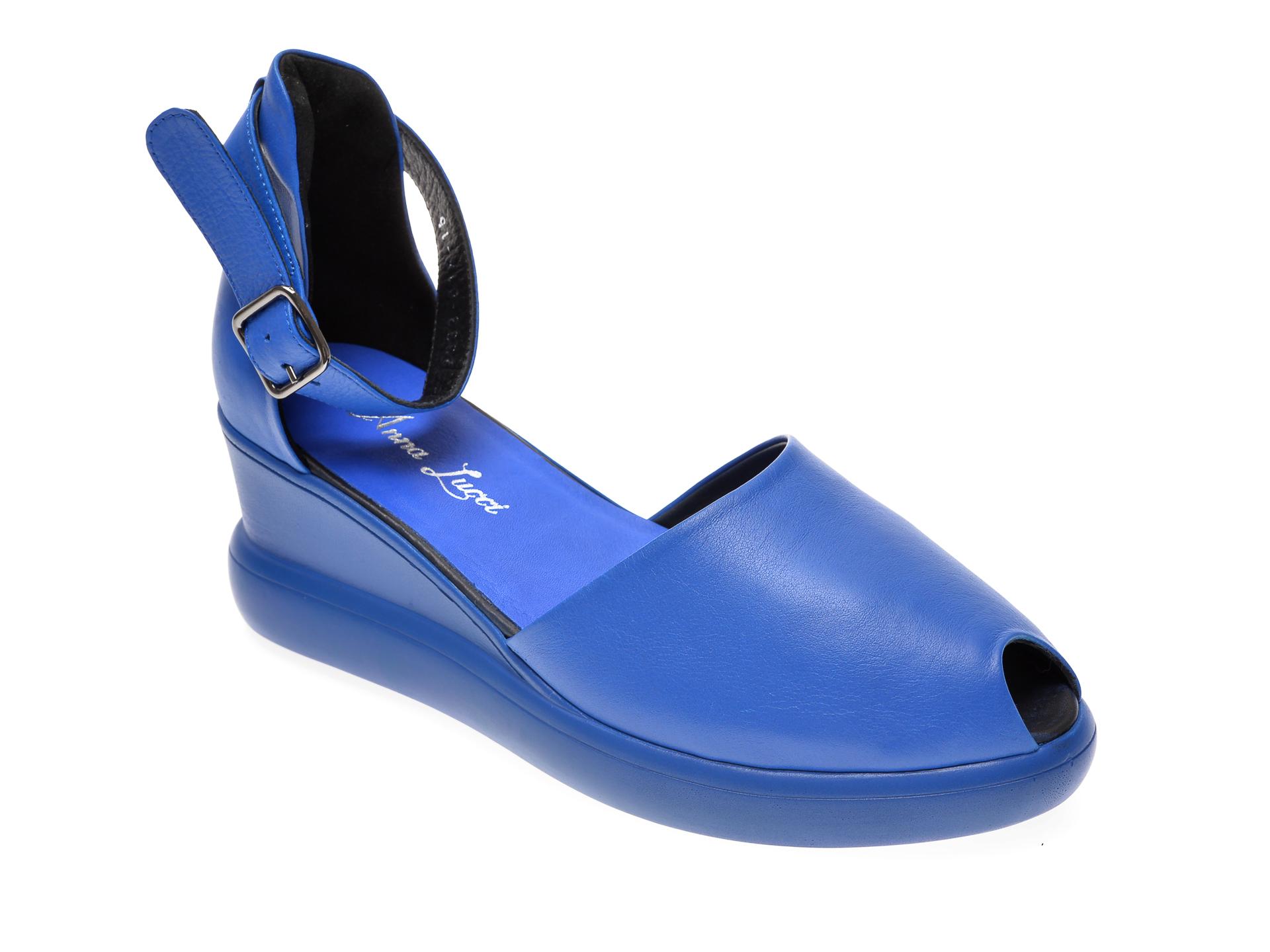 Sandale MISS LIZA albastri, 1182393, din piele naturala