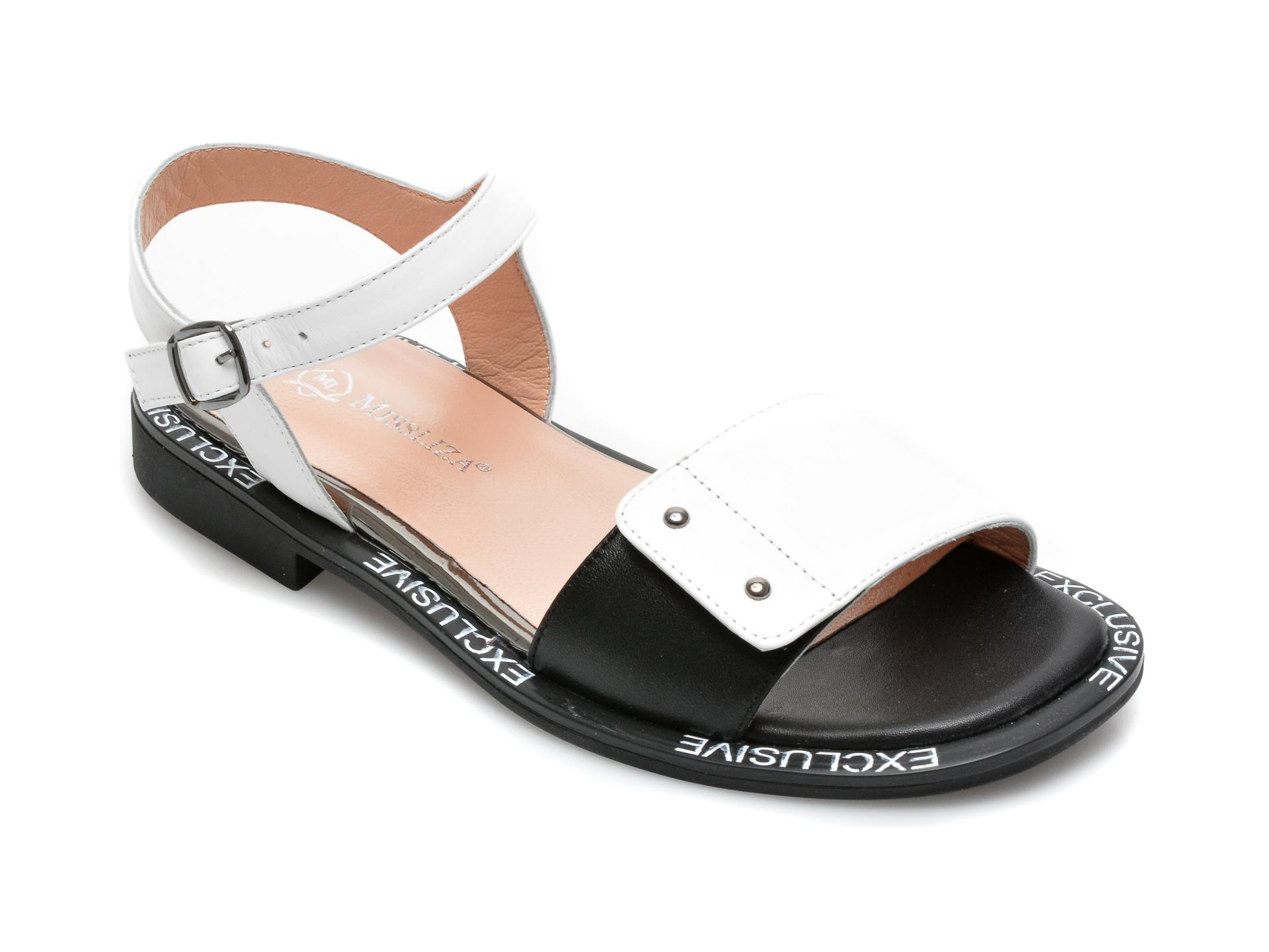 Sandale MISS LIZA albe, 2493AN, din piele naturala imagine otter.ro 2021