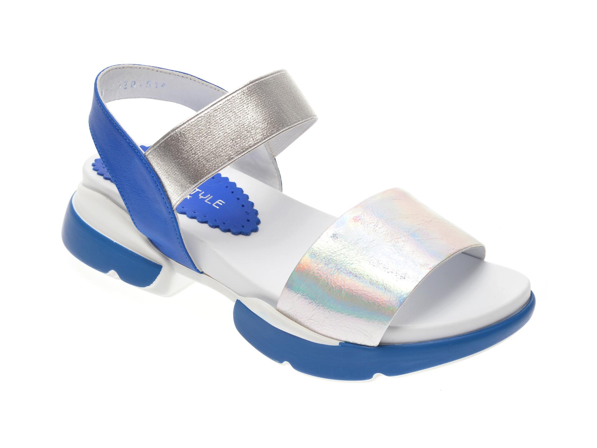 Sandale MISS LIZA argintii, 1182520, din piele naturala imagine
