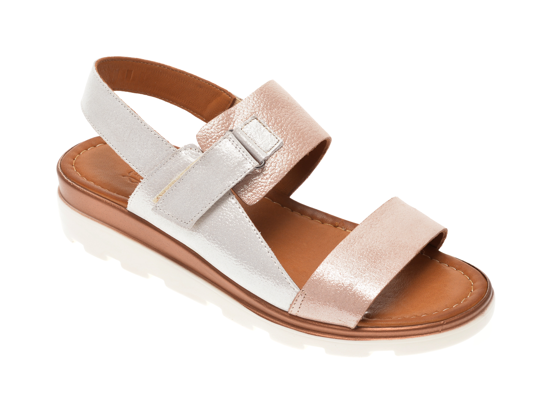 Sandale MISS LIZA aurii, 1182050, din piele naturala