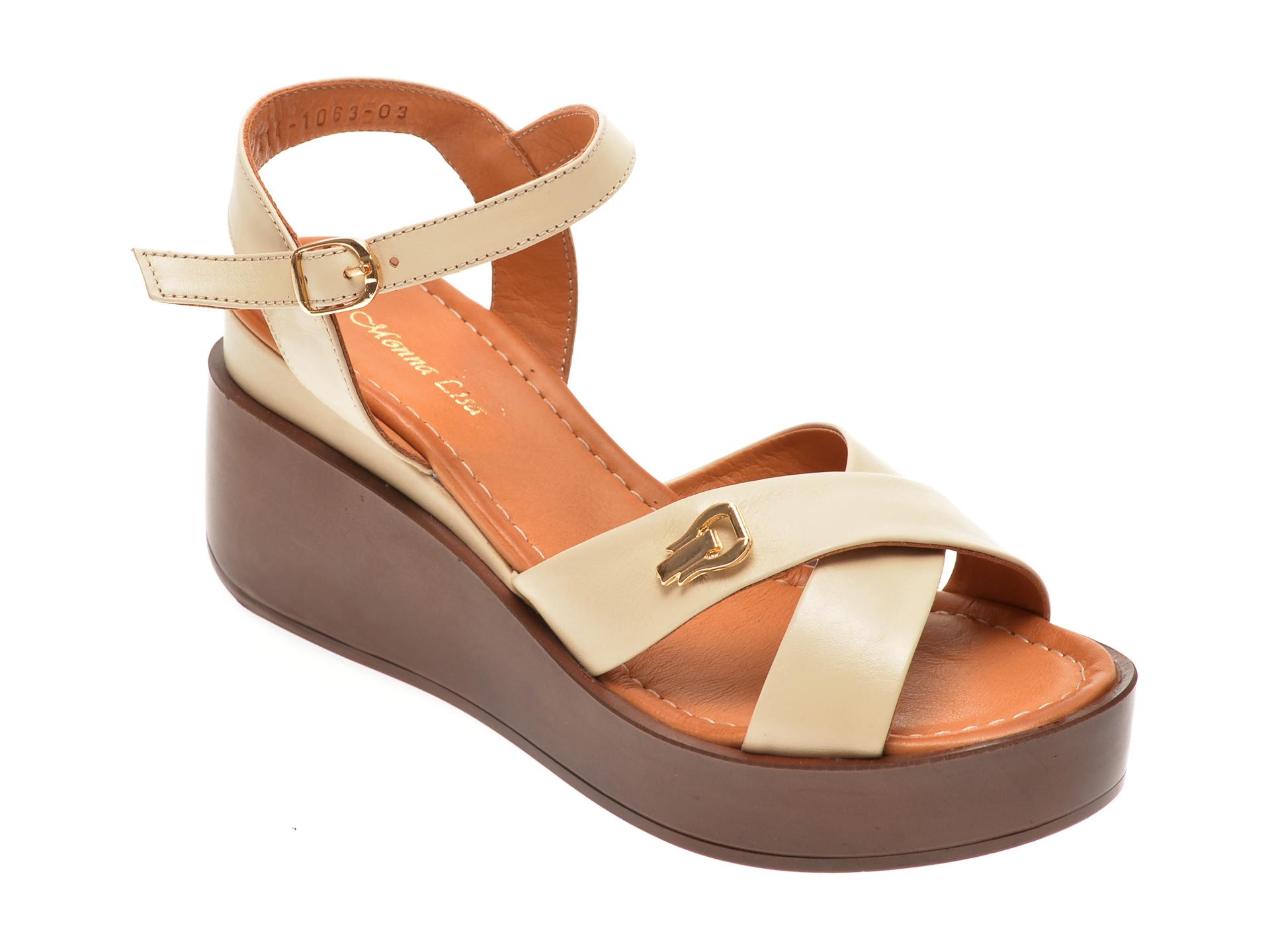 Sandale MISS LIZA bej, 1181063, din piele naturala