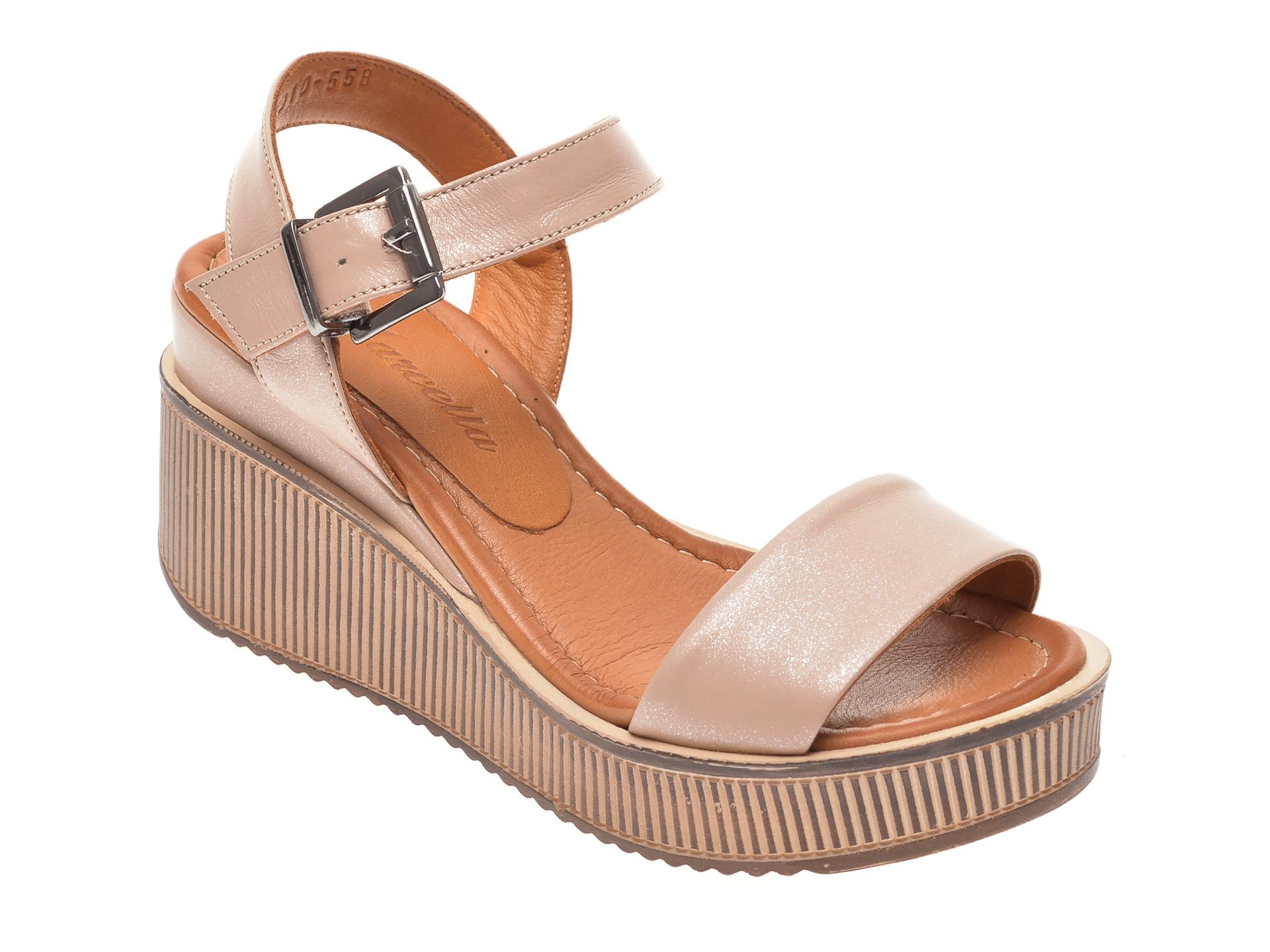 Sandale MISS LIZA maro, 1181910, din piele naturala