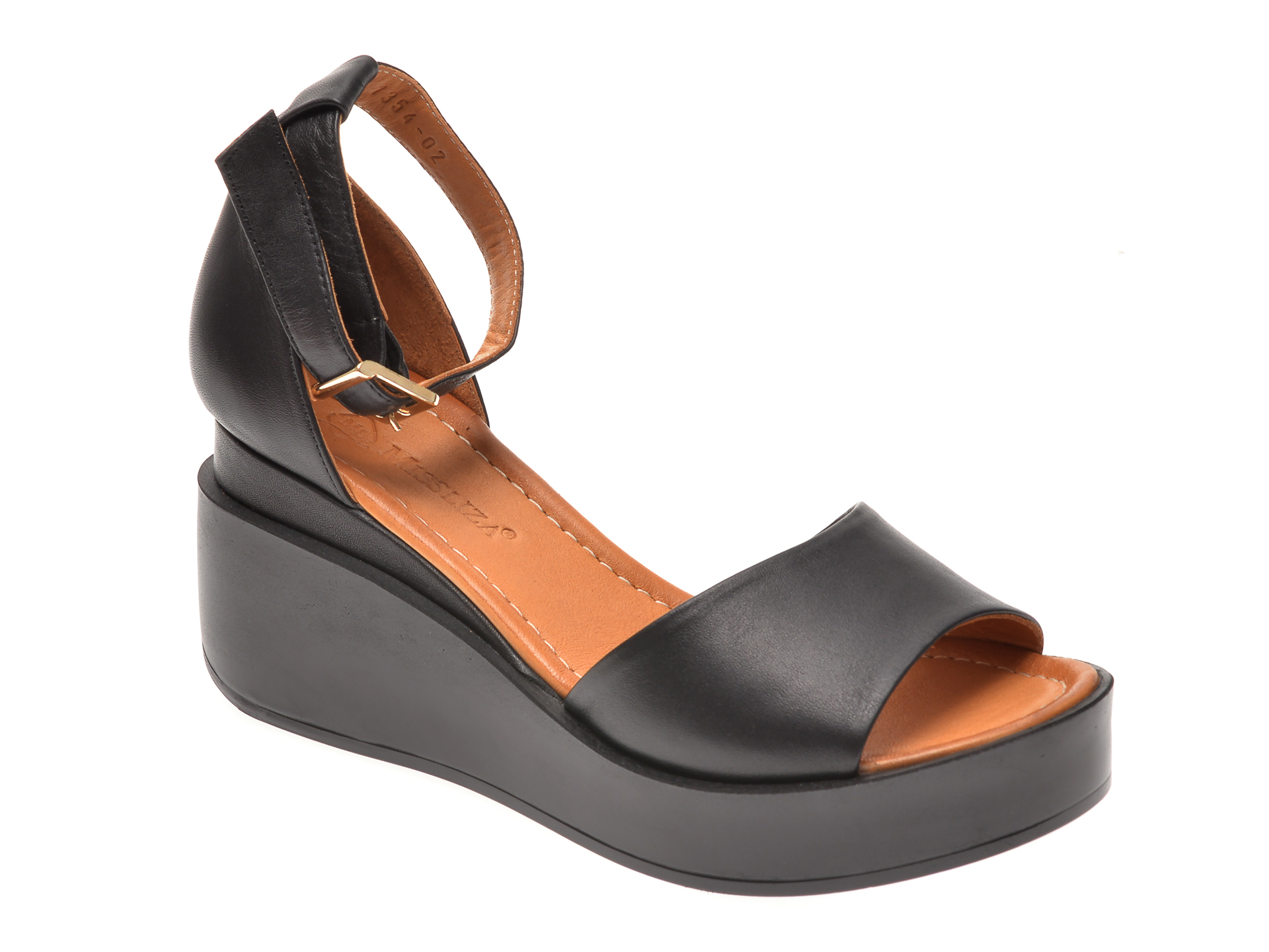 Sandale MISS LIZA negre, 1181354, din piele naturala