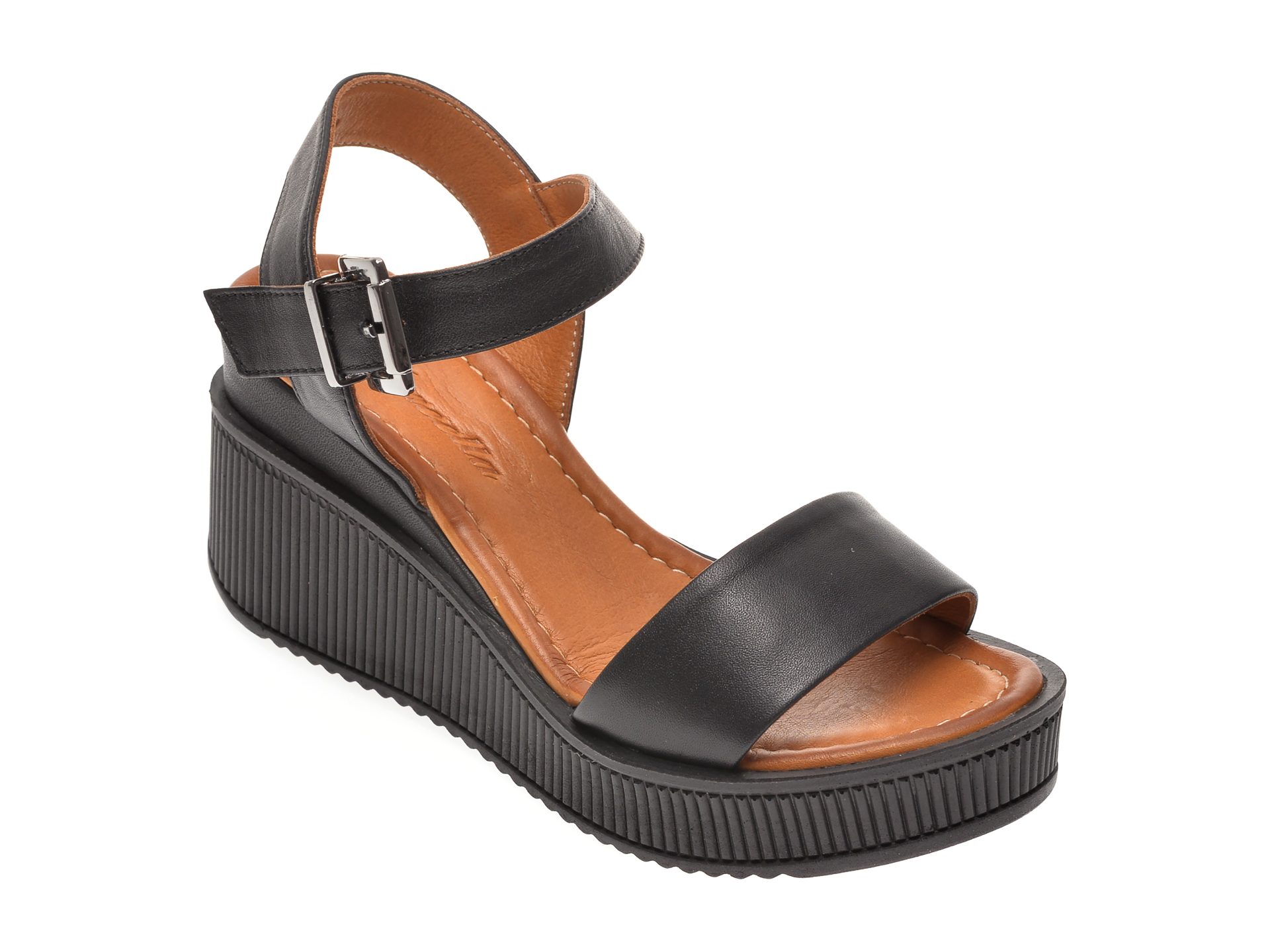Sandale MISS LIZA negre, 1181910, din piele naturala