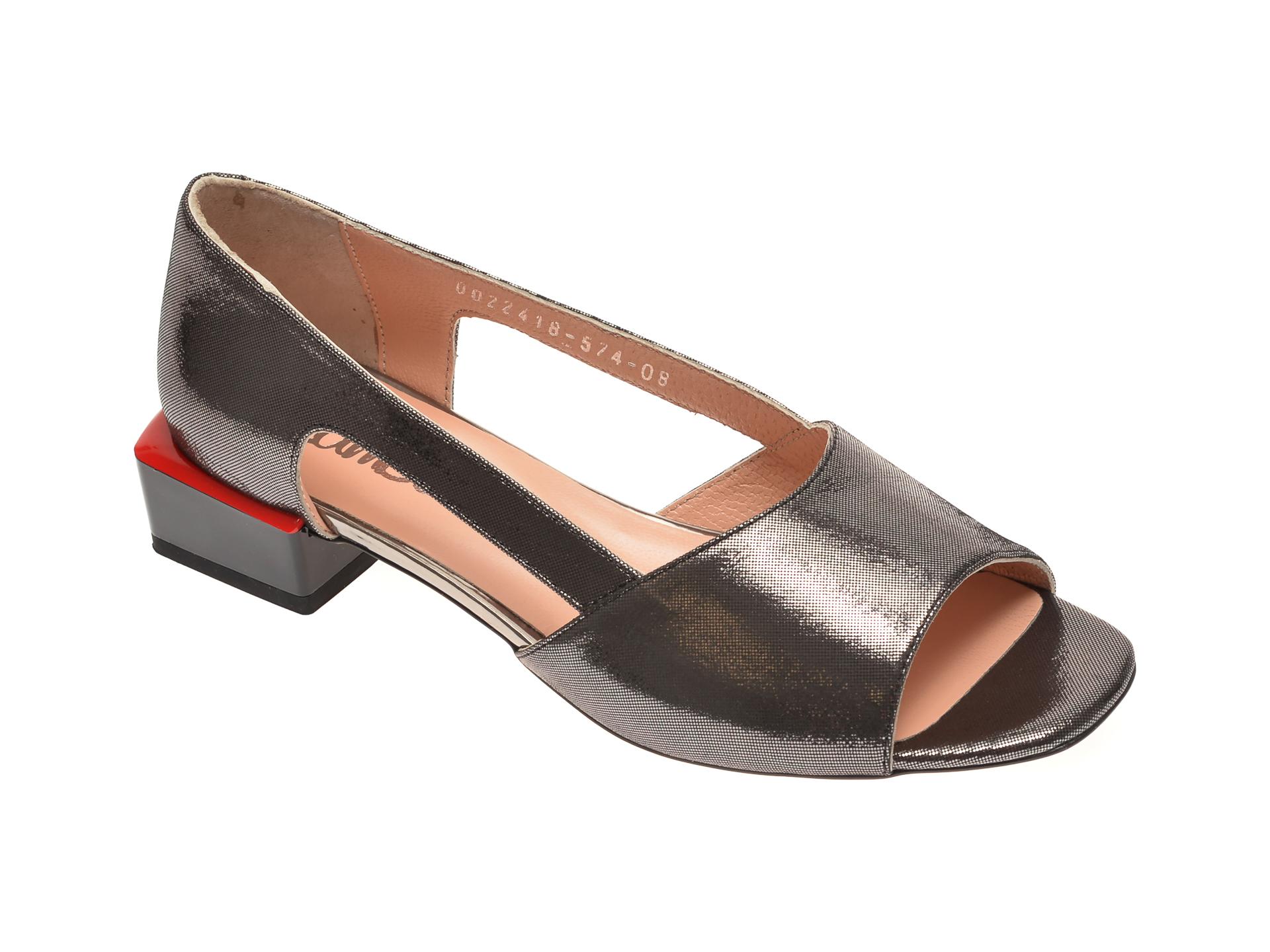 Sandale MISS LIZA negre, 1182418, din piele naturala New