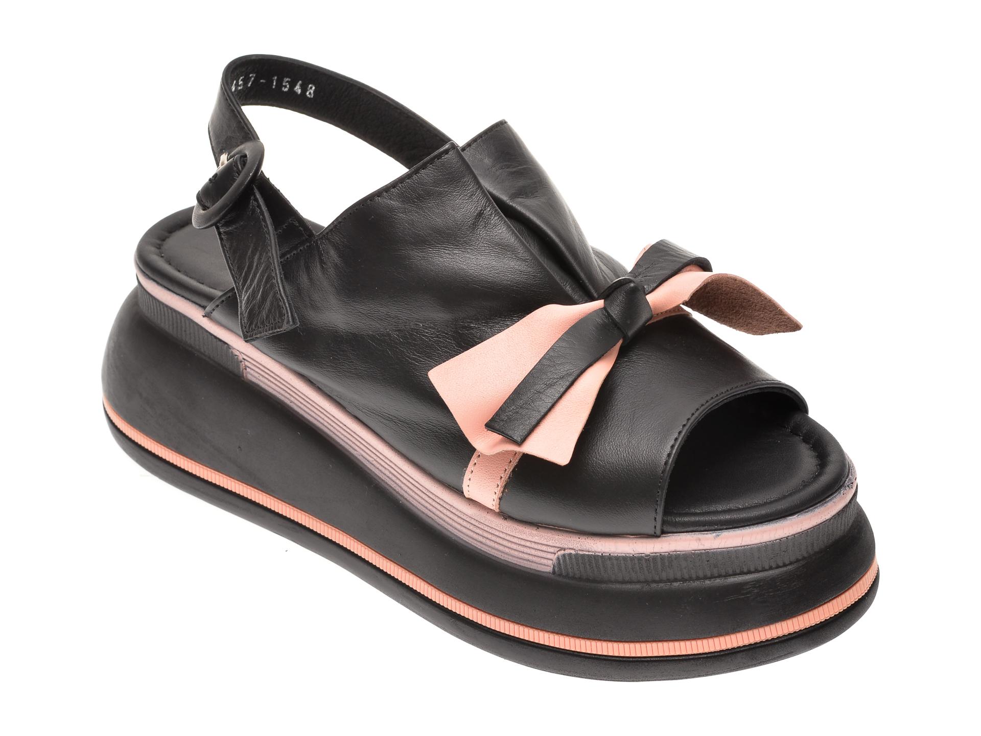 Sandale MISS LIZA negre, 1182457, din piele naturala