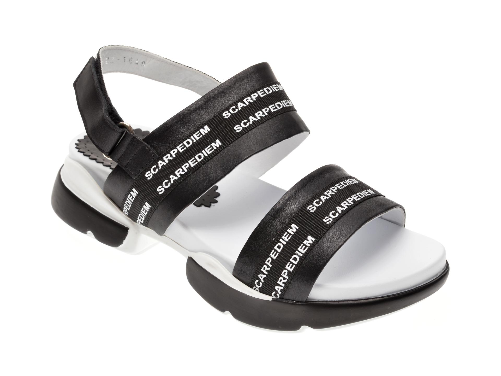Sandale MISS LIZA negre, 1182502, din piele naturala