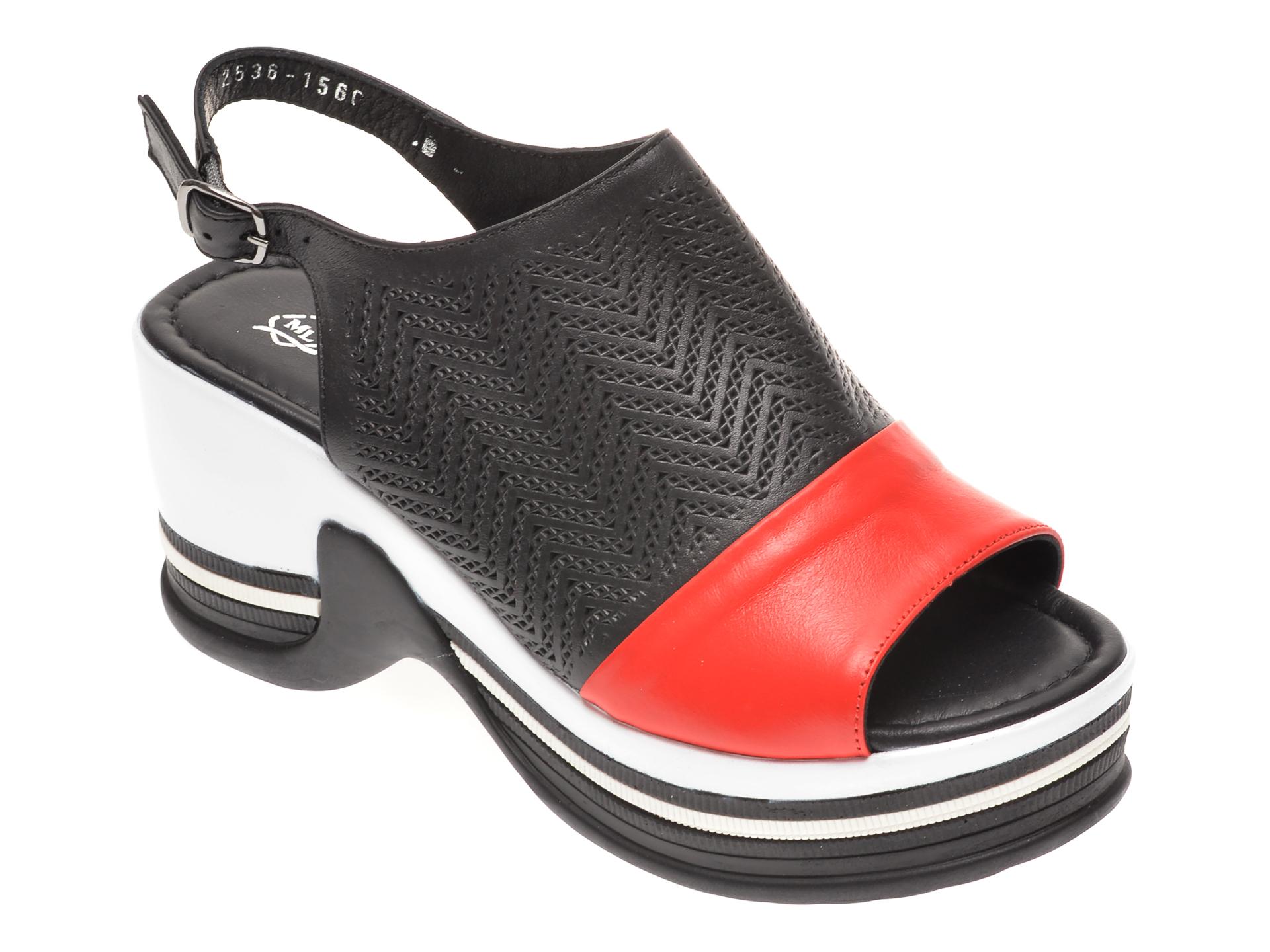 Sandale MISS LIZA negre, 1182536, din piele naturala