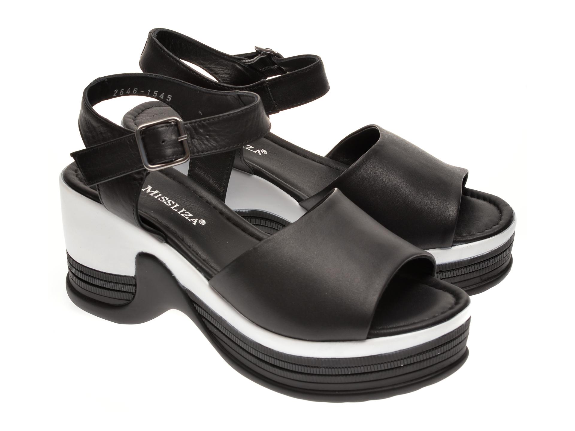 Sandale MISS LIZA negre, 1182546, din piele naturala