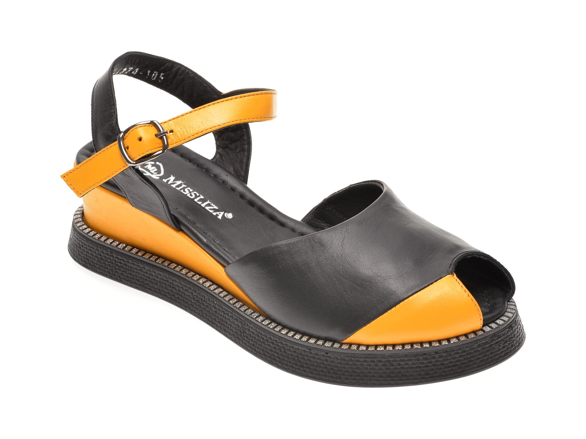 Sandale MISS LIZA negre, 1182565, din piele naturala