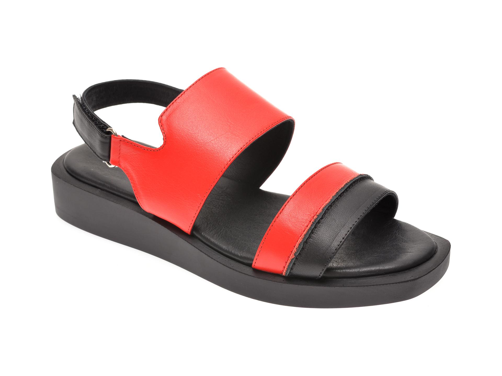 Sandale MISS LIZA negre, 1182649, din piele naturala