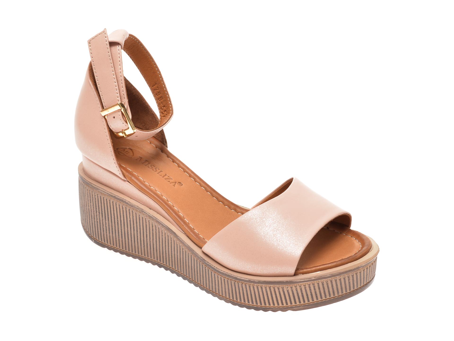 Sandale MISS LIZA nude, 1181798, din piele naturala