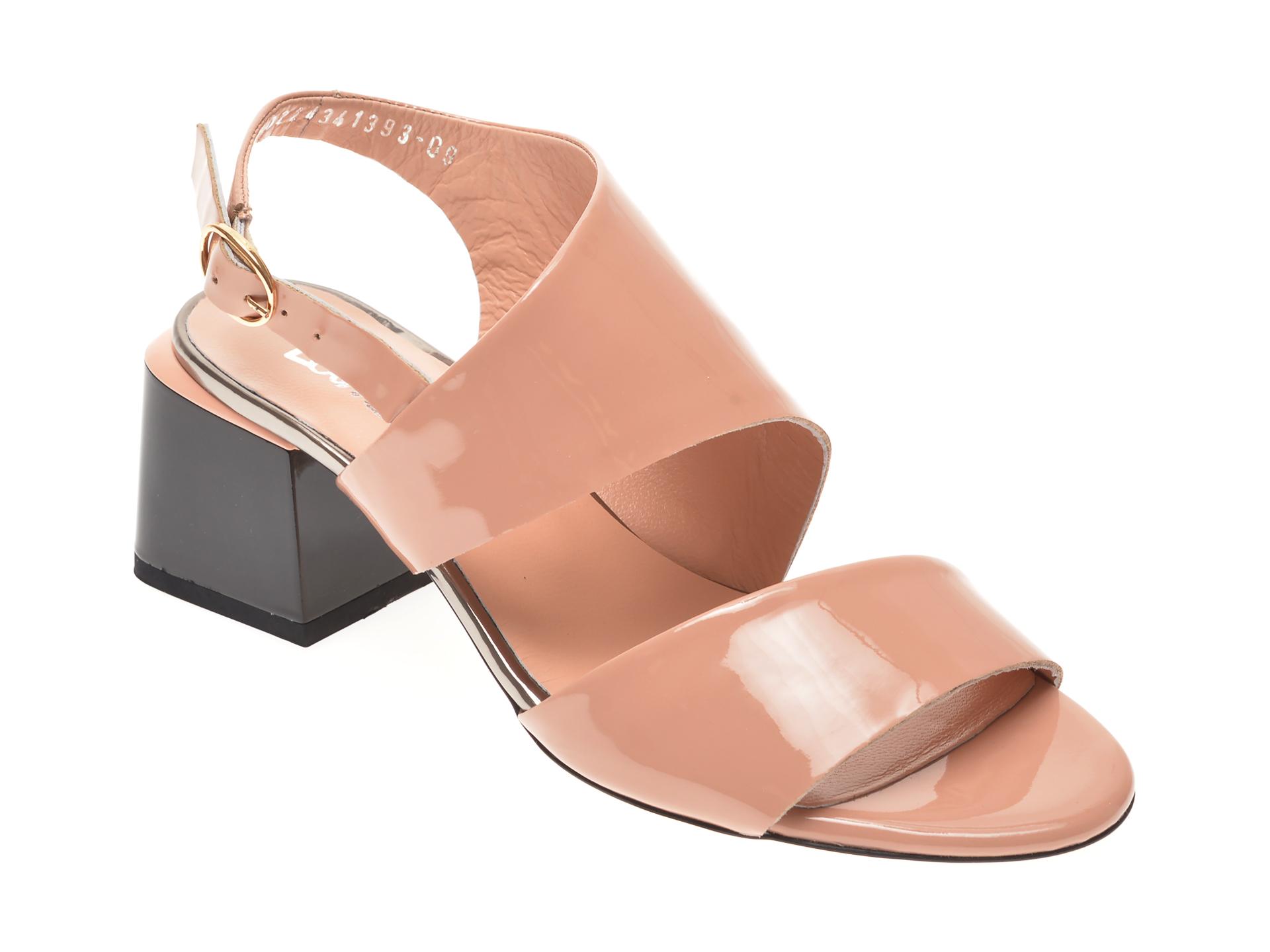 Sandale MISS LIZA nude, 1182434, din lac piele