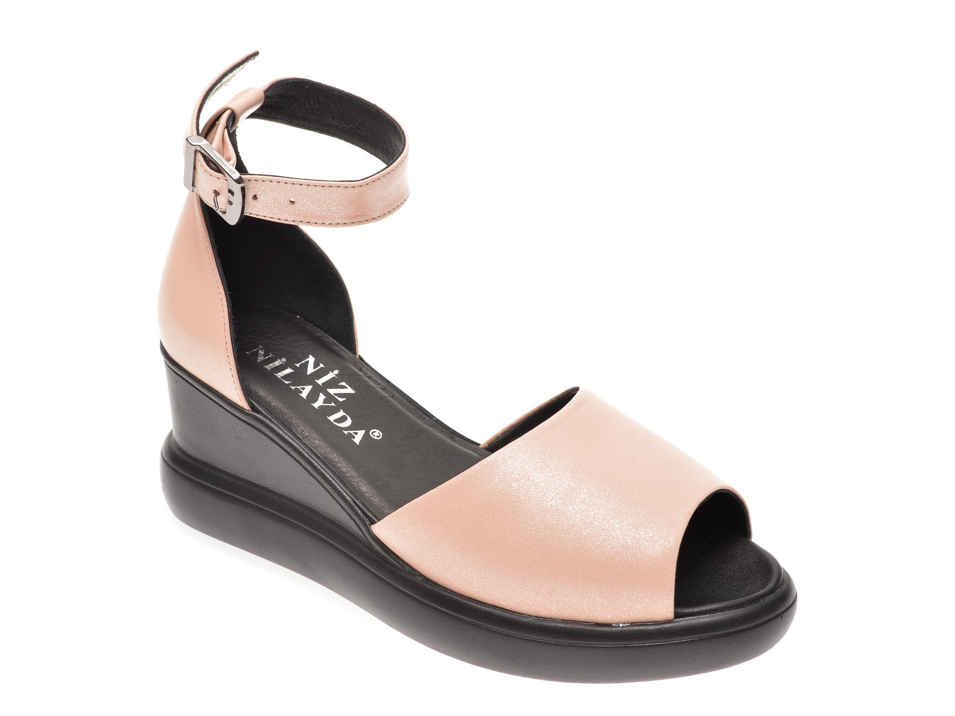 Sandale MISS LIZA nude, 1182605, din piele naturala