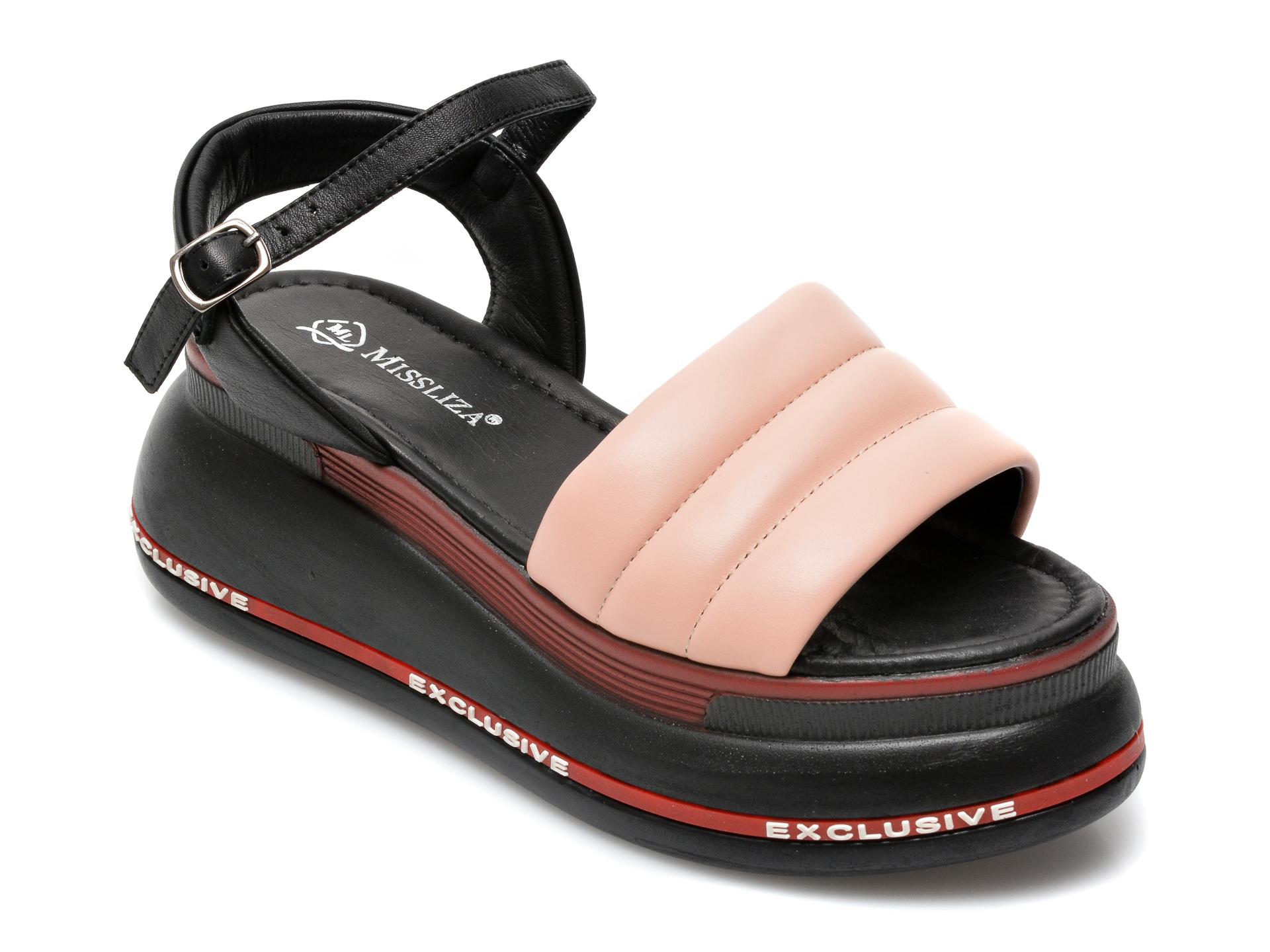 Sandale MISS LIZA nude, 2719, din piele naturala imagine otter.ro