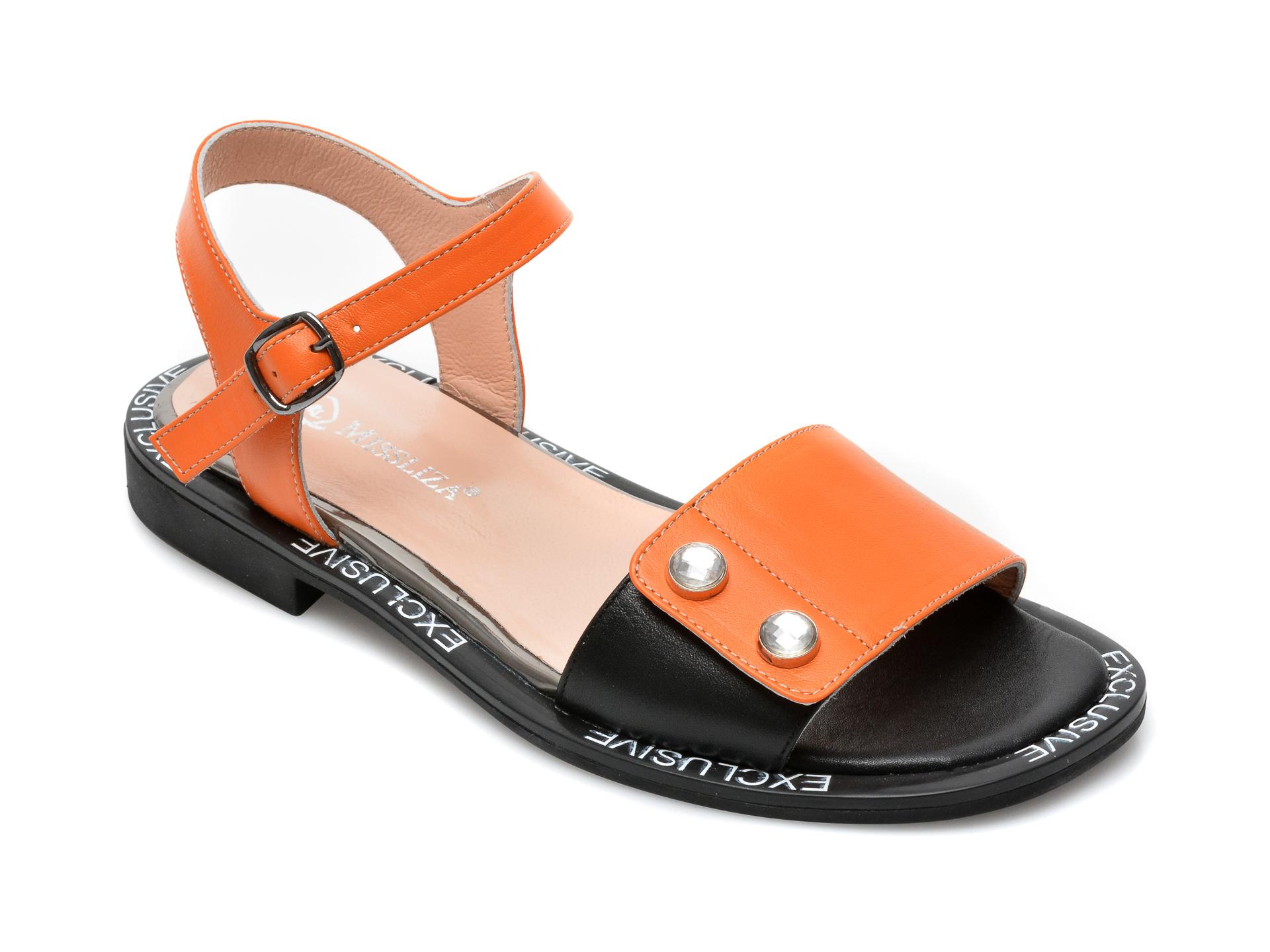 Sandale MISS LIZA portocalii, 2493, din piele naturala imagine otter.ro 2021