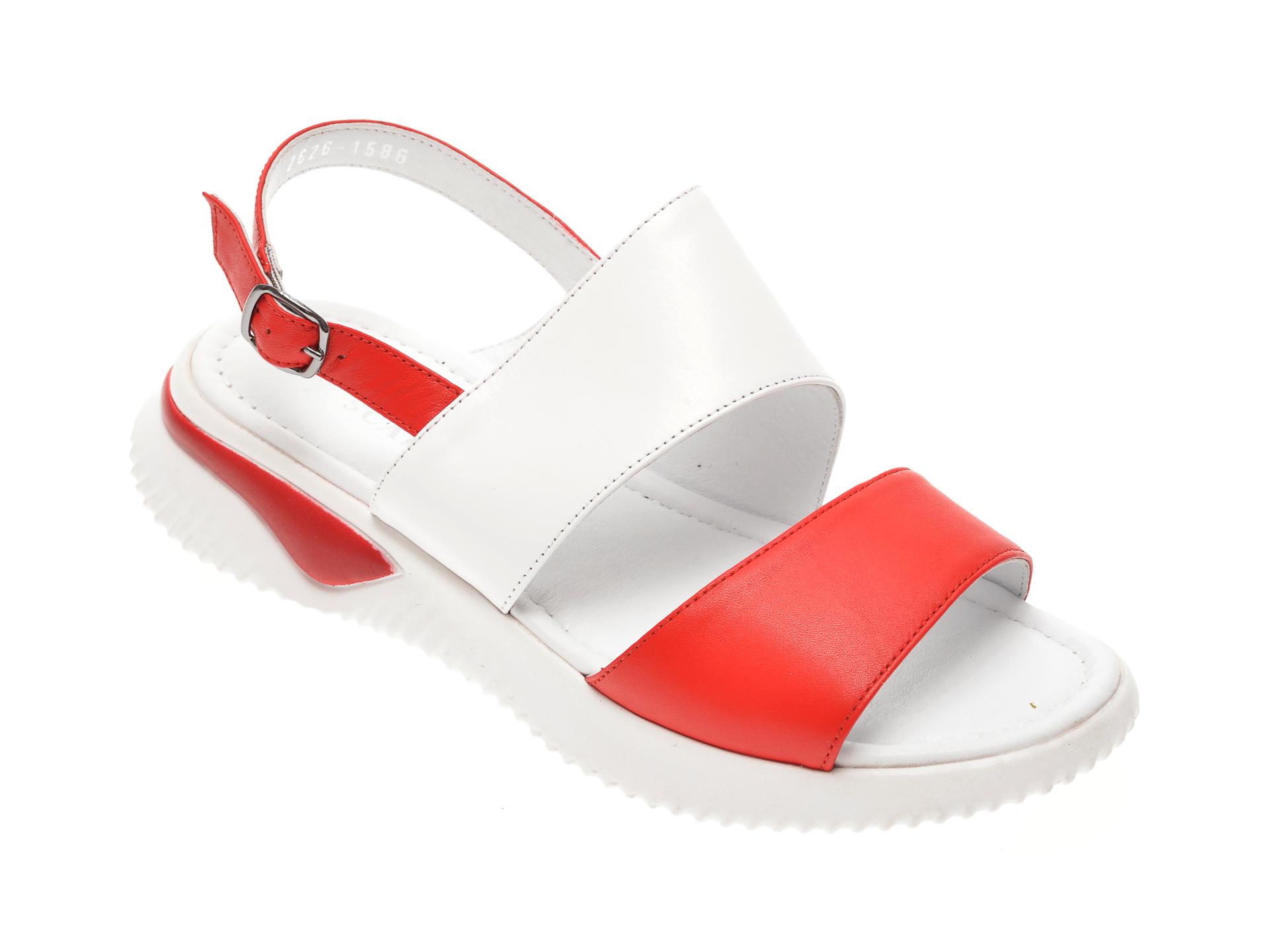 Sandale MISS LIZA rosii, 1182626, din piele naturala