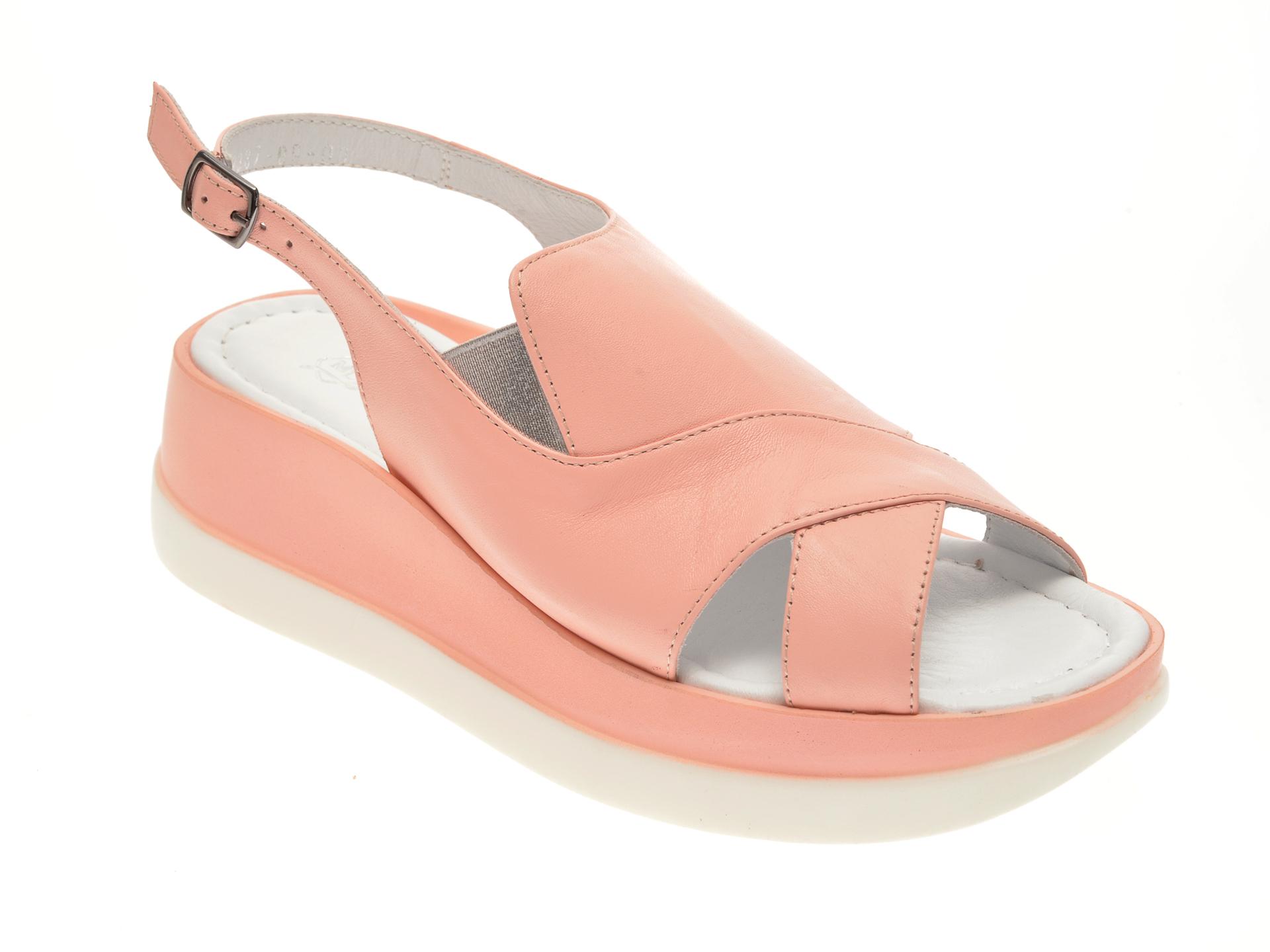 Sandale MISS LIZA roz, 1182387, din piele naturala New