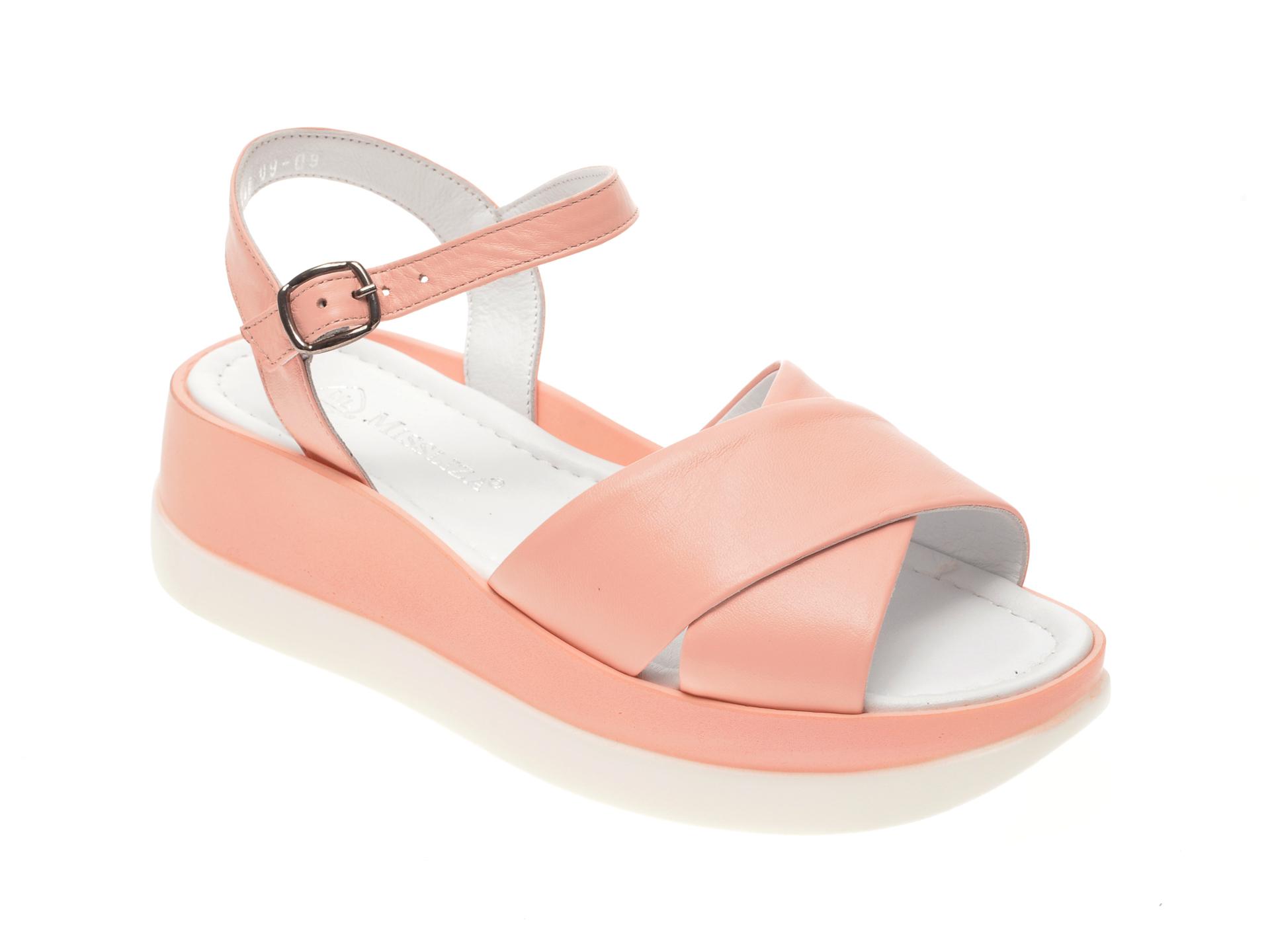 Sandale MISS LIZA roz, 1182440, din piele naturala