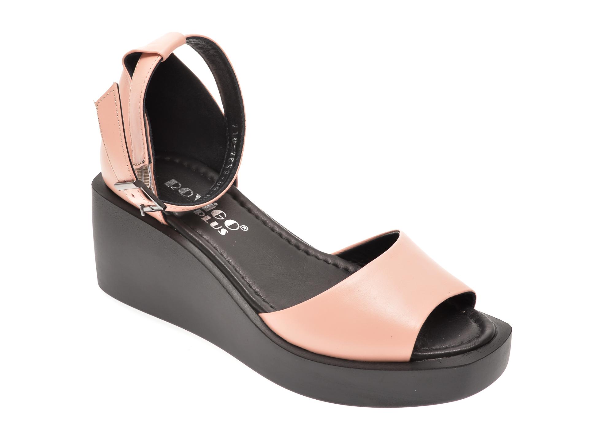 Sandale MISS LIZA roz, 1182659, din piele naturala