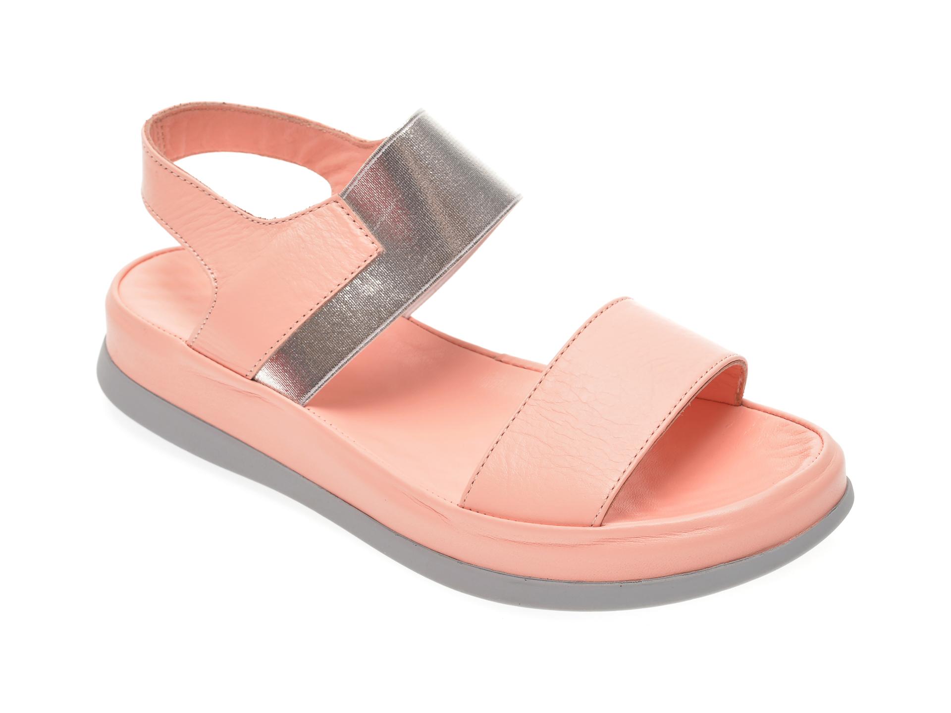 Sandale MISS LIZA roz, 118PD02, din piele naturala