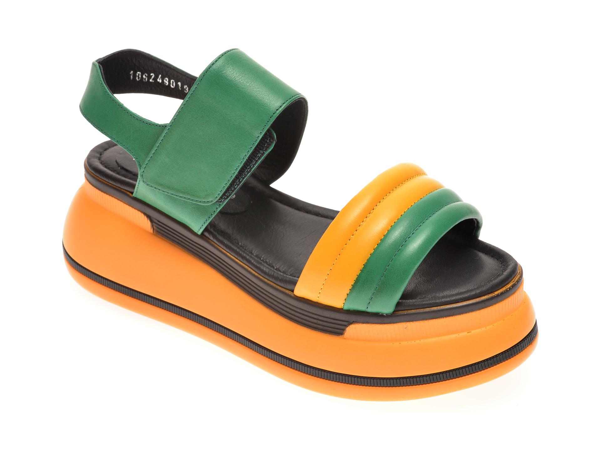 Sandale MISS LIZA verzi, 1182490, din piele naturala