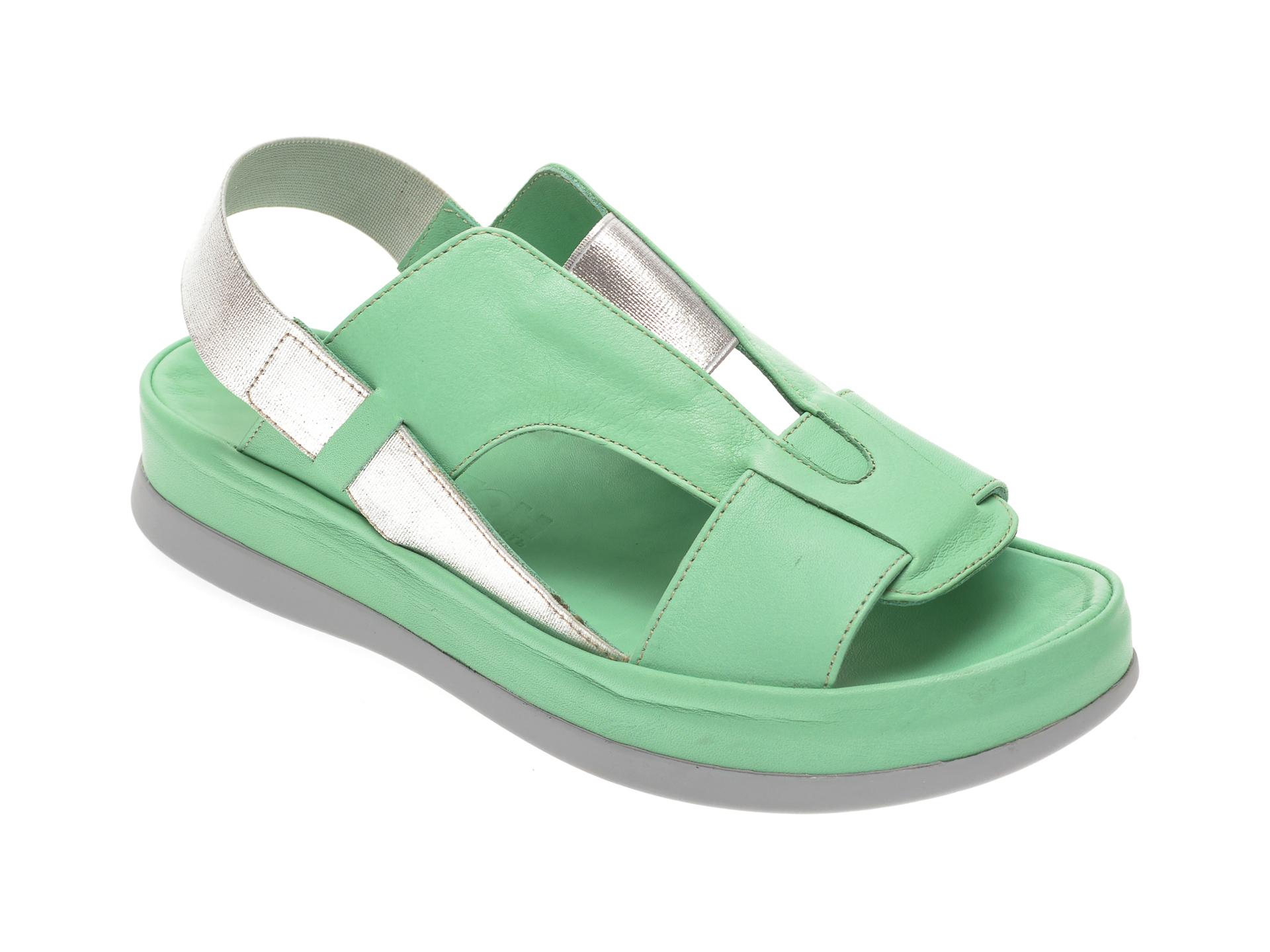 Sandale MISS LIZA verzi, 118PD11, din piele naturala