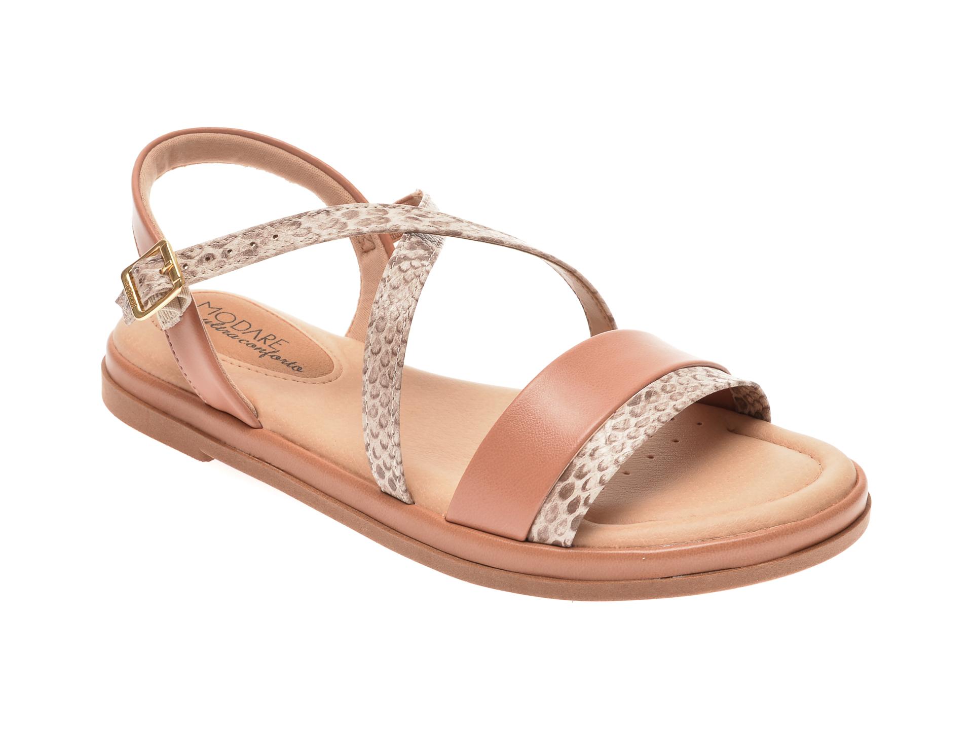 Sandale MODARE nude, 7139104, din piele ecologica