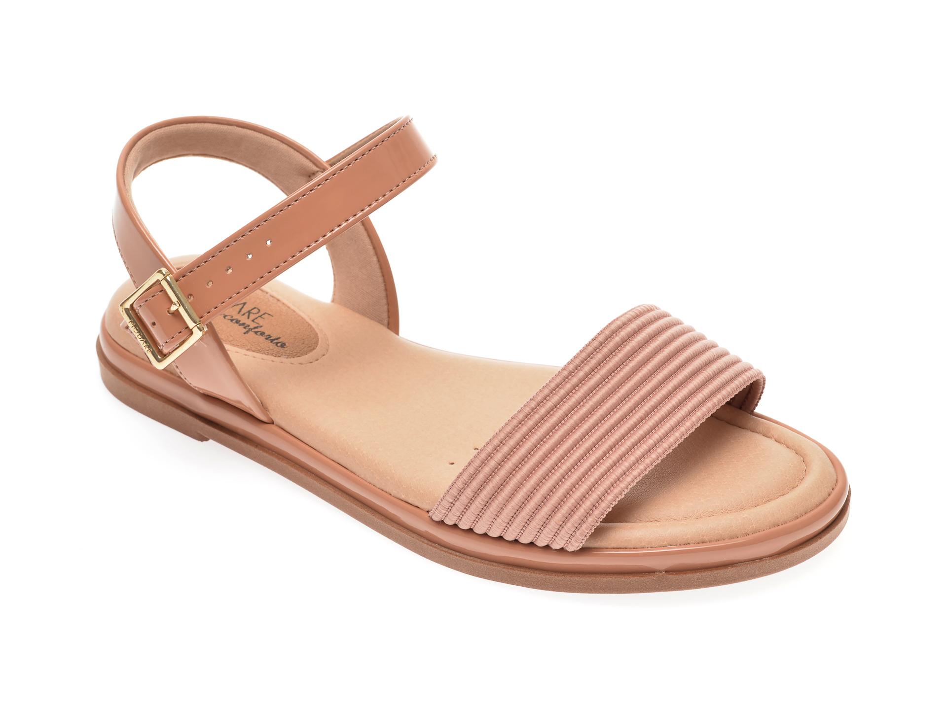 Sandale MODARE nude, 7139108, din piele ecologica New